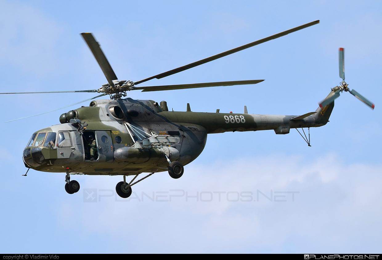 Mil Mi-171Sh - 9868 operated by Vzdušné síly AČR (Czech Air Force) #czechairforce #mi171 #mi171sh #mil #mil171 #milhelicopters #vzdusnesilyacr