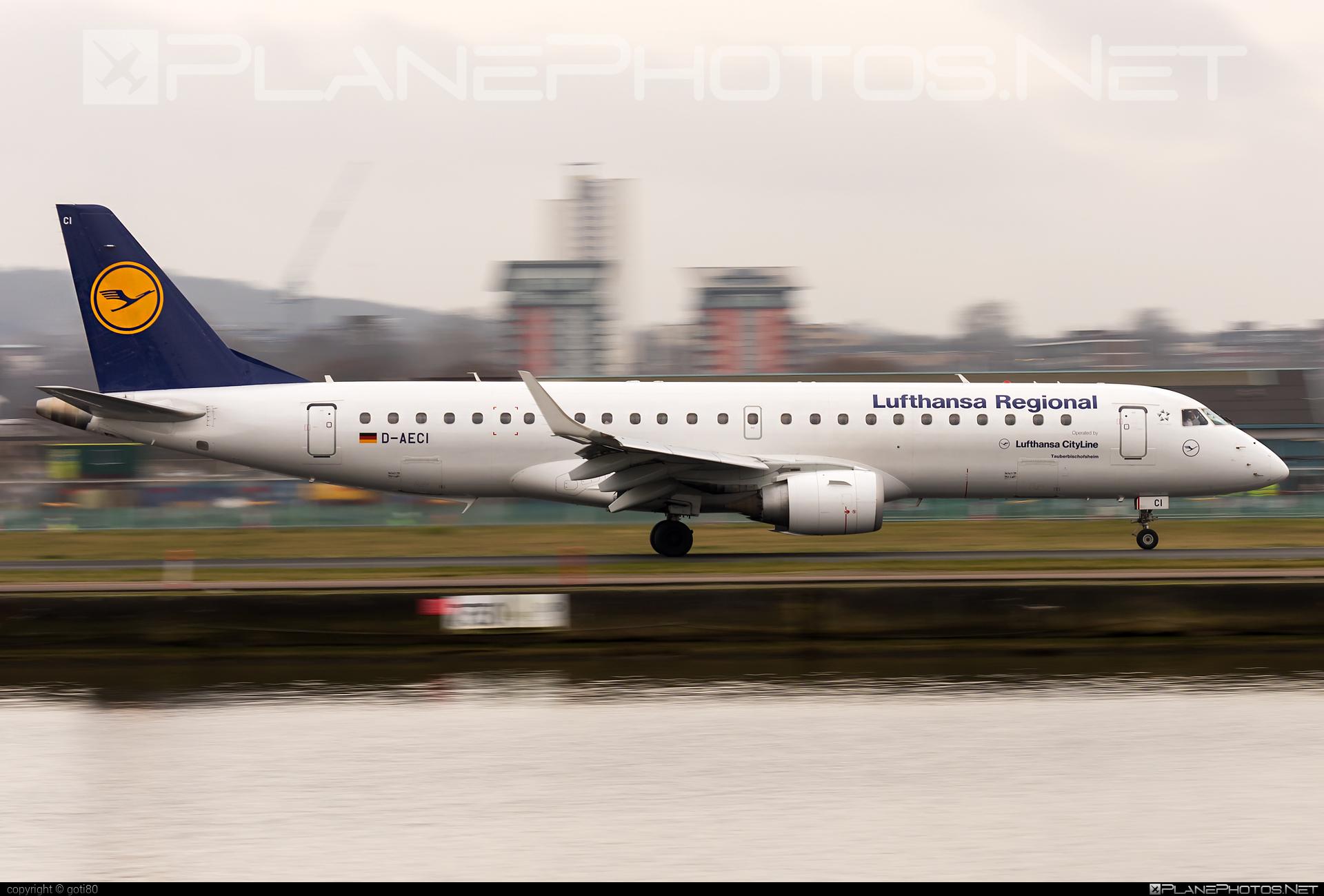 Embraer E190LR (ERJ-190-100LR) - D-AECI operated by Lufthansa Regional (CityLine) #e190 #e190100 #e190100lr #e190lr #embraer #embraer190 #embraer190100lr #embraer190lr