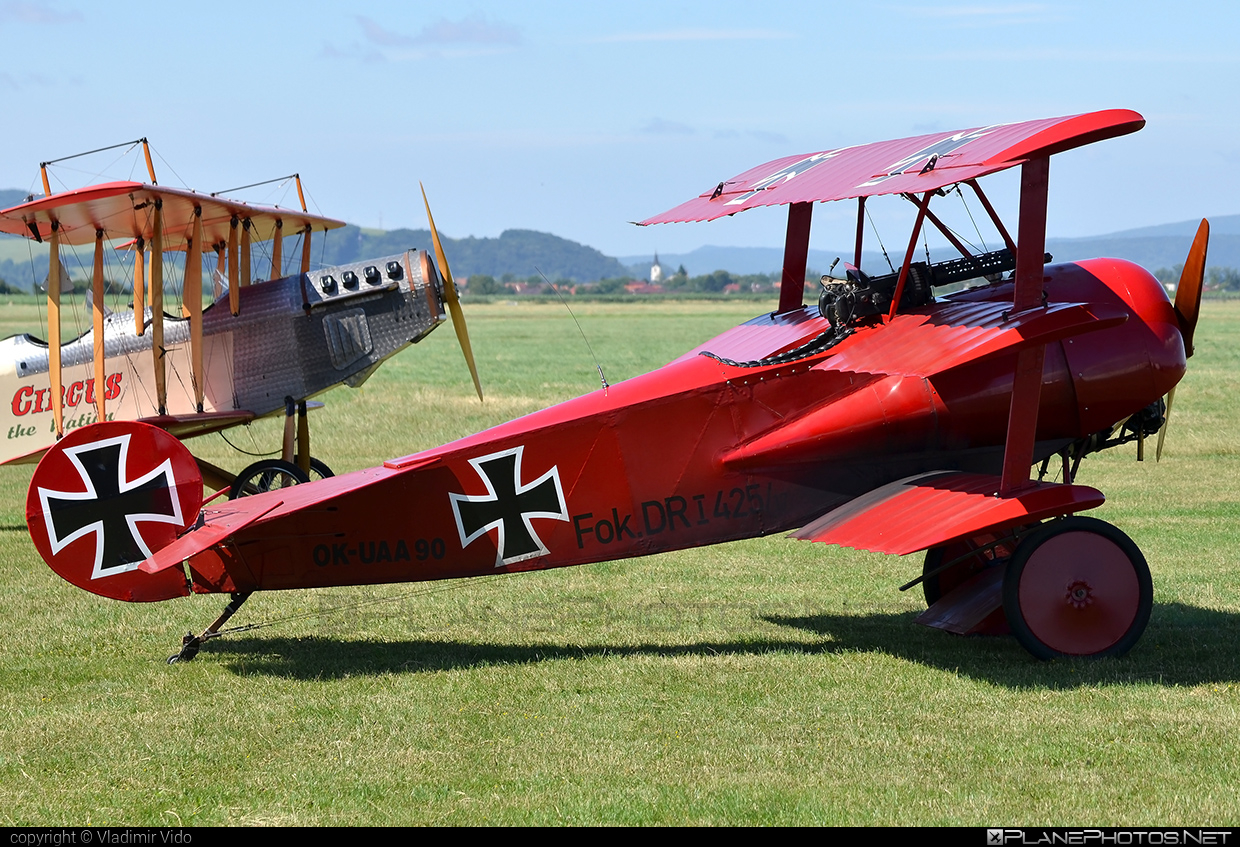 Fokker DR.1 Triplane (replica) - OK-UAA 90 operated by Private operator #fokker