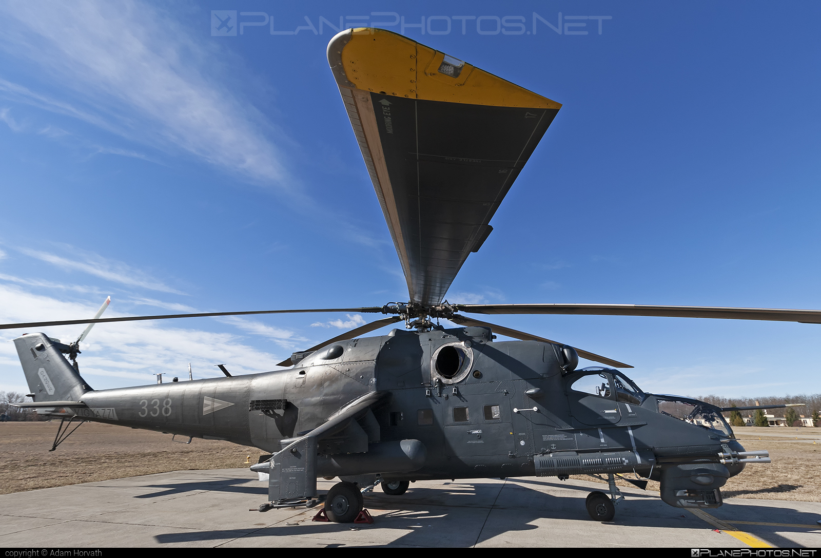 Mil Mi-24P - 338 operated by Magyar Légierő (Hungarian Air Force) #hungarianairforce #magyarlegiero #mi24 #mi24p #mil #mil24 #mil24p #milhelicopters