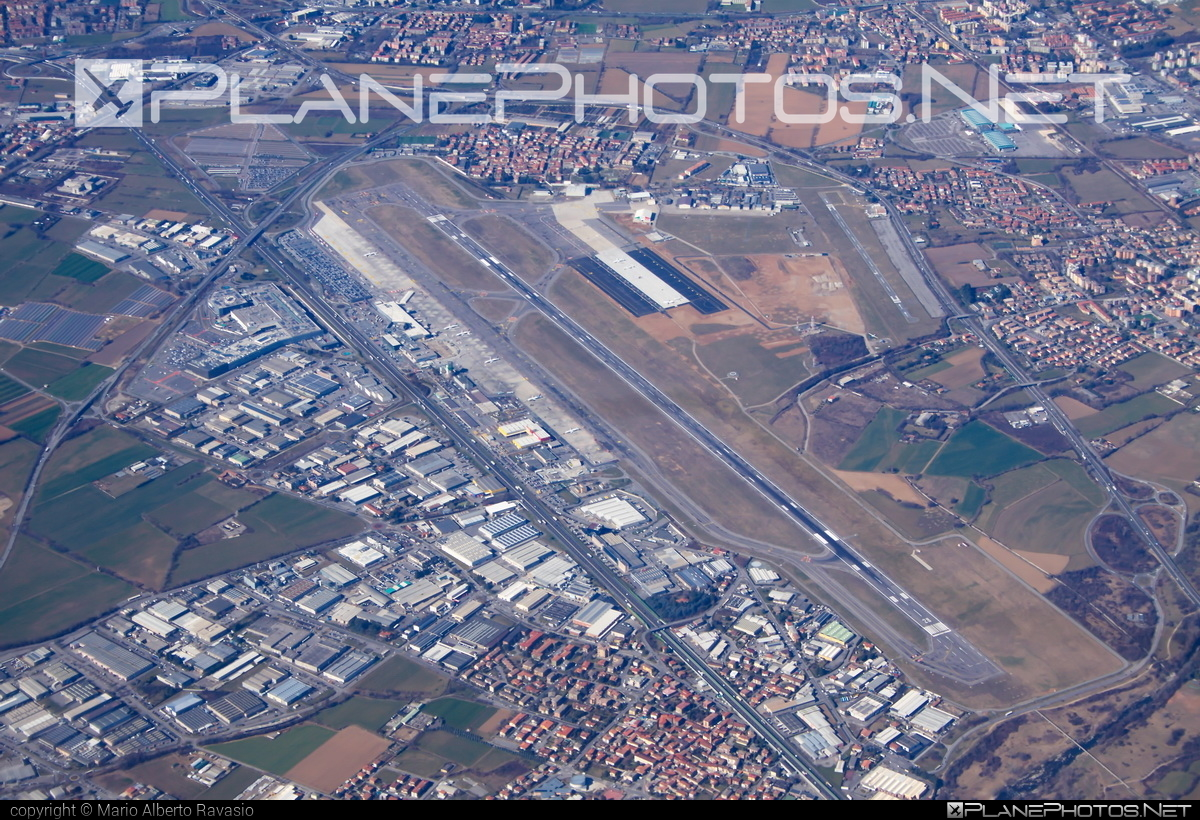 Bergamo Orio Al Serio Int`l airport overview