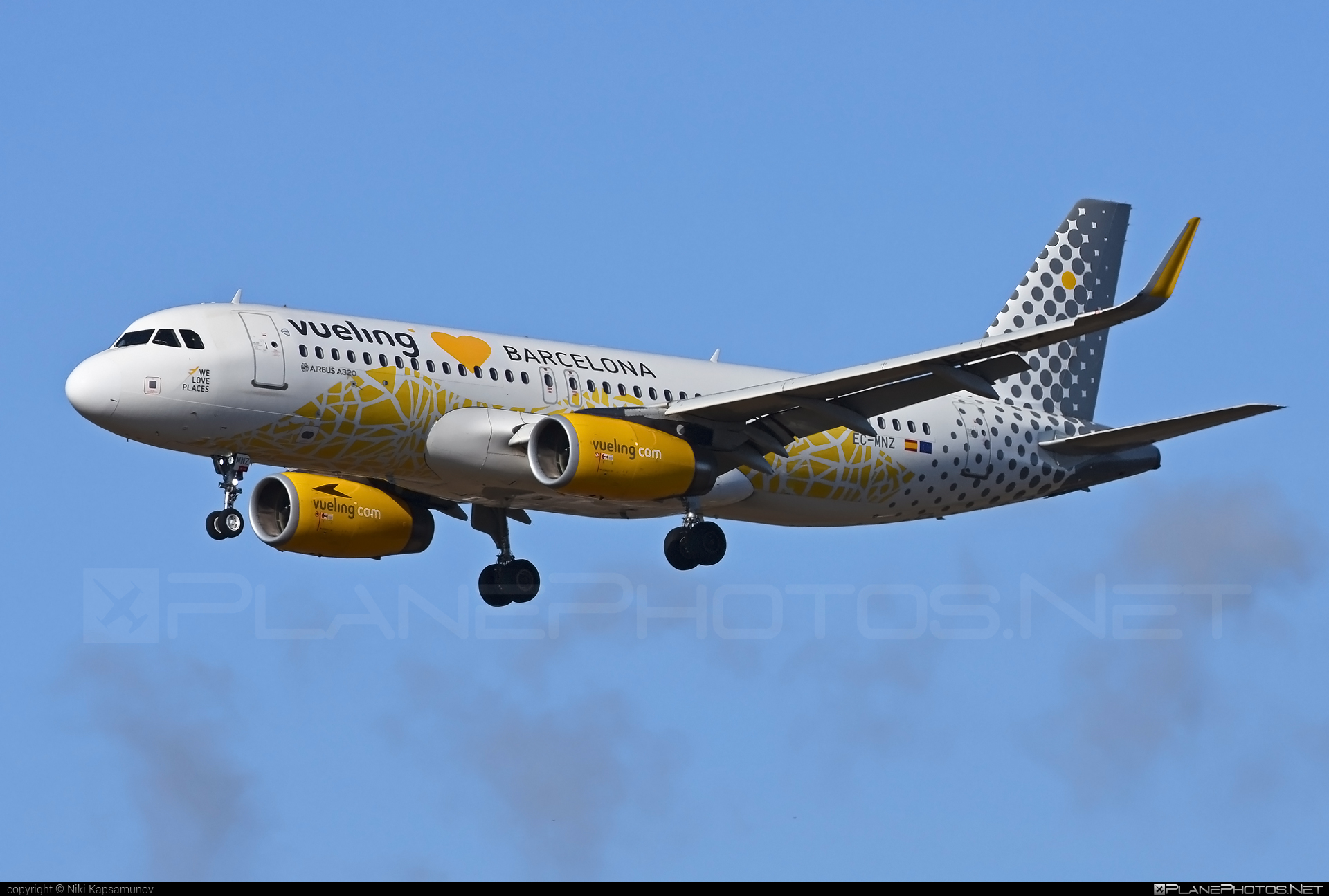 Airbus A320-232 - EC-MNZ operated by Vueling Airlines #a320 #a320family #airbus #airbus320 #vueling #vuelingairlines