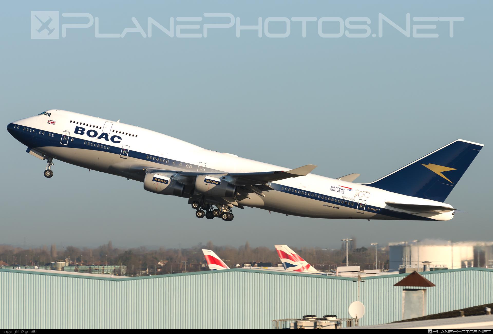 British Airways Boeing 747-400 - G-BYGC #b747 #boeing #boeing747 #britishairways #jumbo