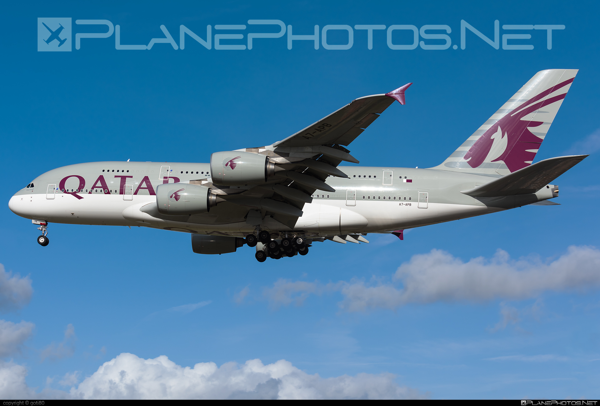 Airbus A380-861 - A7-APB operated by Qatar Airways #a380 #a380family #airbus #airbus380 #qatarairways