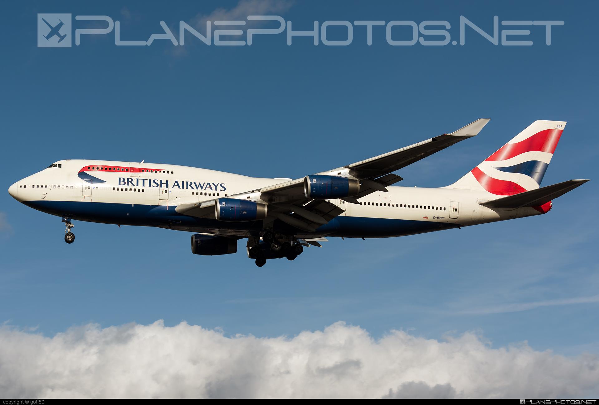 British Airways Boeing 747-400 - G-BYGF #b747 #boeing #boeing747 #britishairways #jumbo