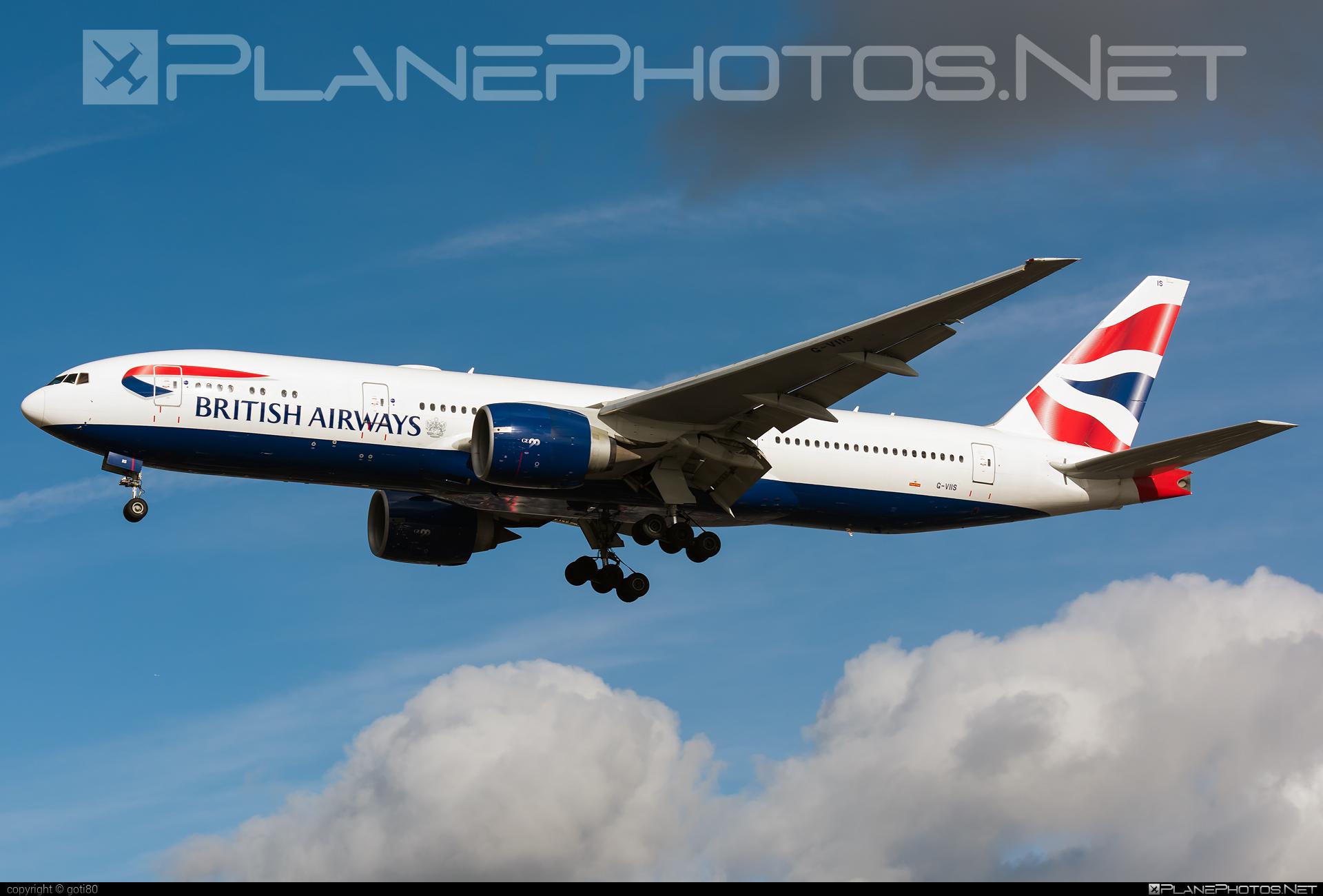 Boeing 777-200ER - G-VIIS operated by British Airways #b777 #b777er #boeing #boeing777 #britishairways #tripleseven