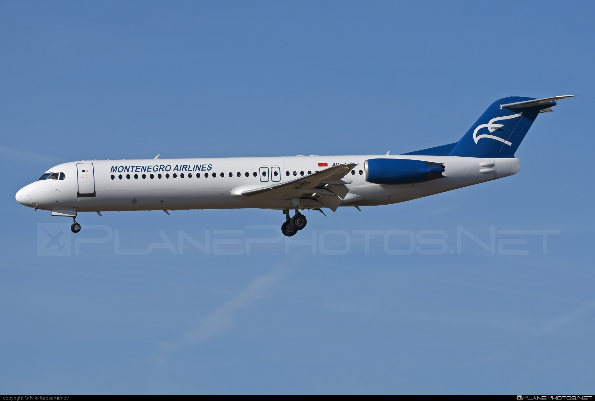 Fokker 100 - 4O-AOM operated by Montenegro Airlines #fokker