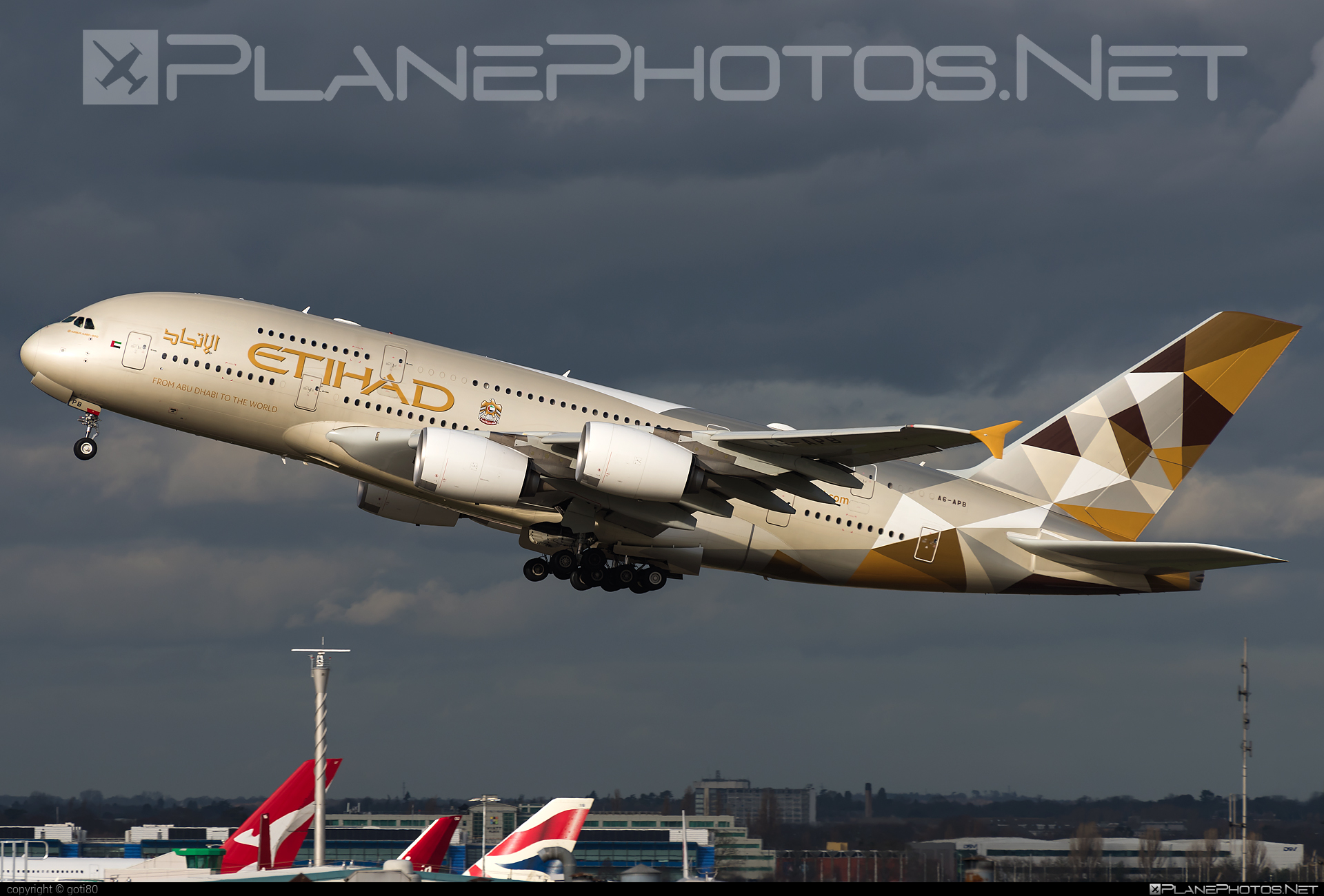 Airbus A380-861 - A6-APB operated by Etihad Airways #a380 #a380family #airbus #airbus380 #etihad #etihadairways