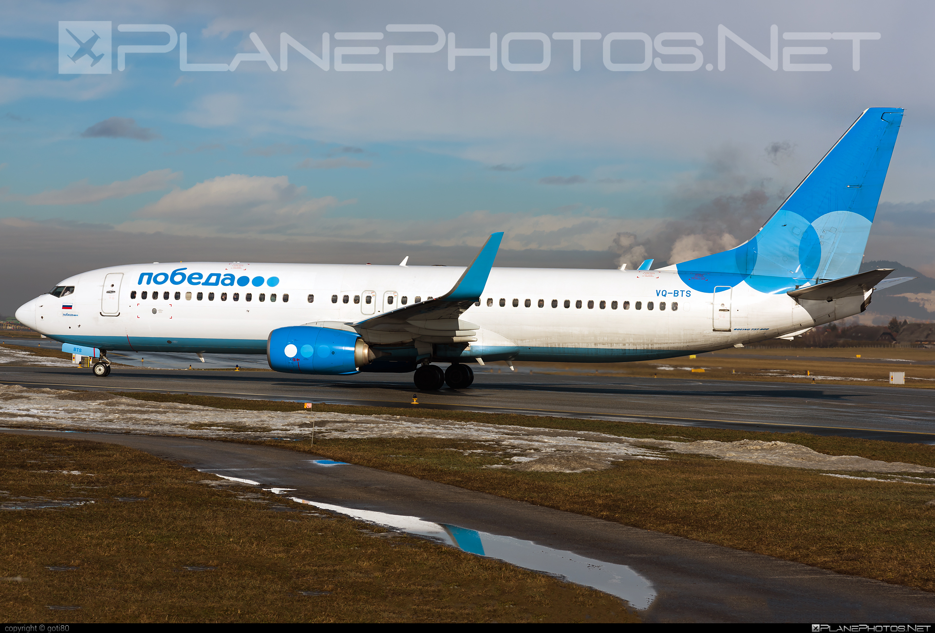 Boeing 737-800 - VQ-BTS operated by Pobeda #b737 #b737nextgen #b737ng #boeing #boeing737