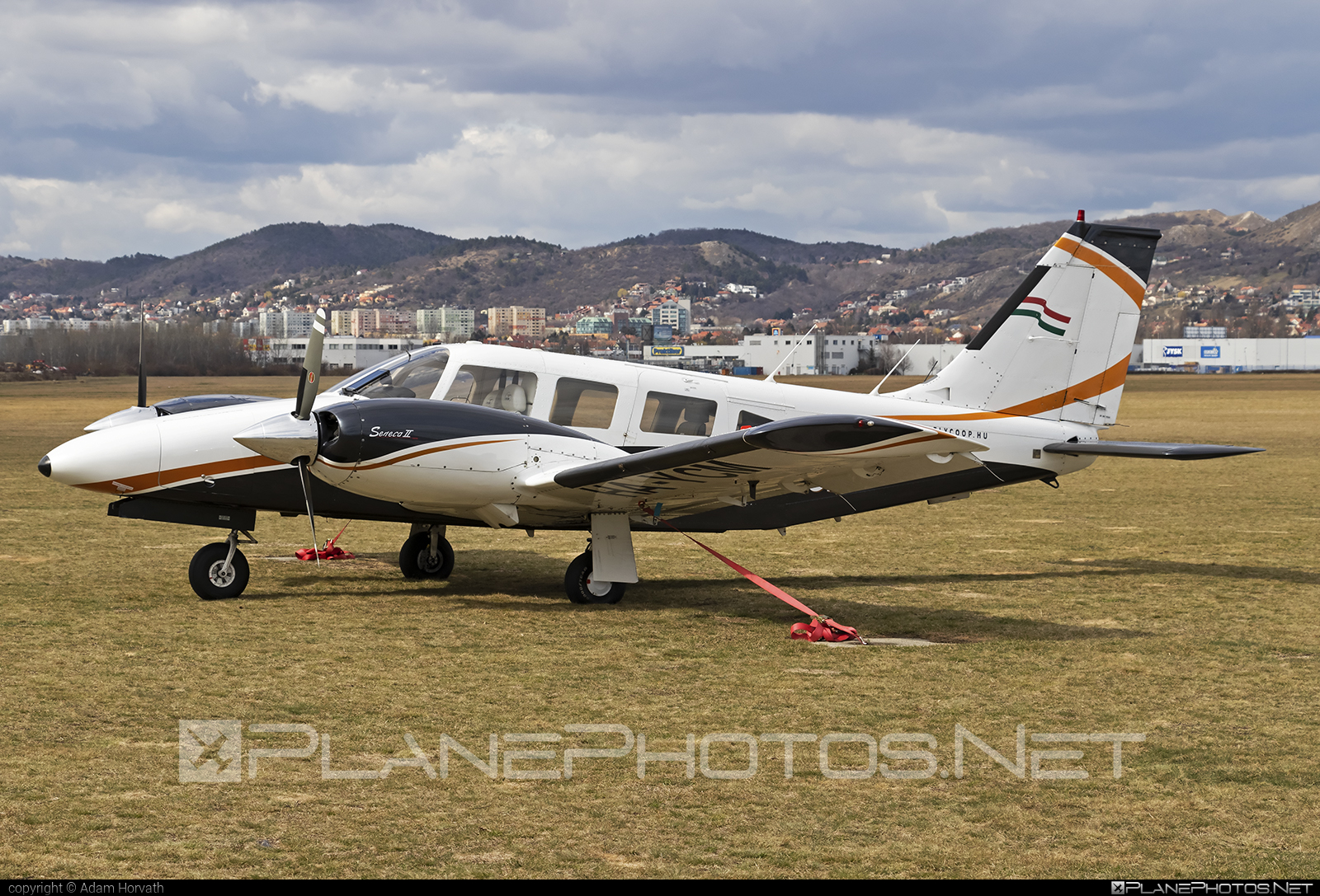 Piper PA-34-200T Seneca II - HA-YCM operated by Fly-Coop #piper