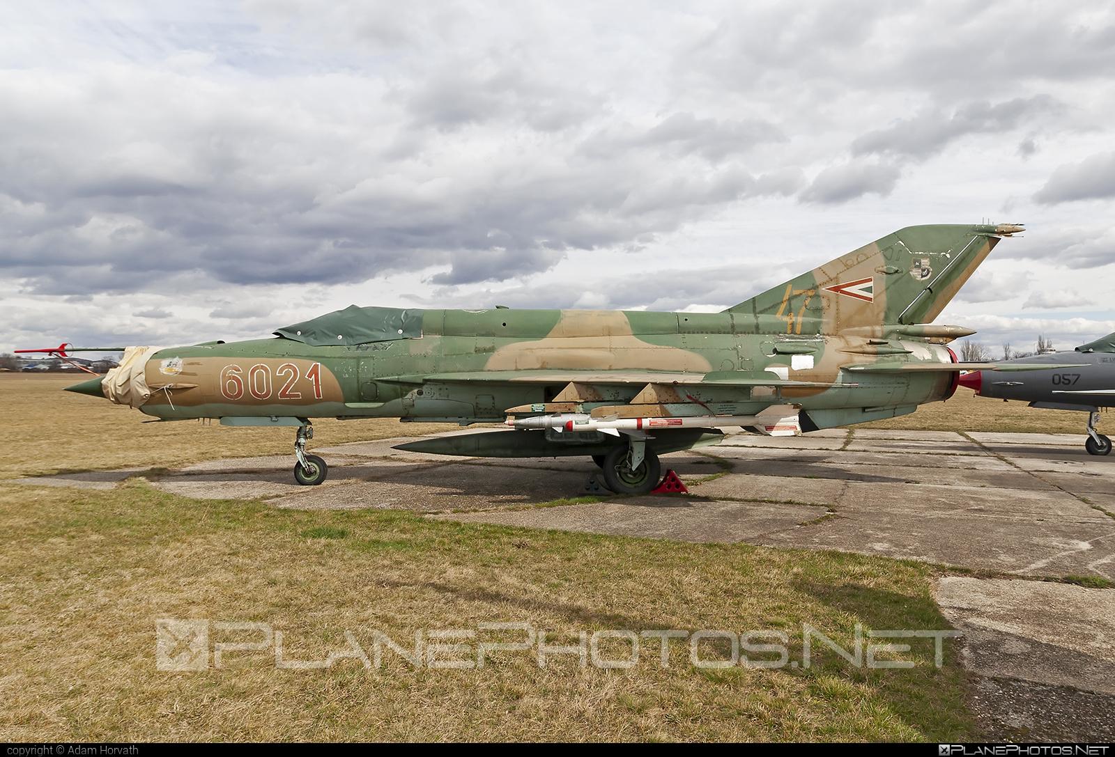 Magyar Légierő (Hungarian Air Force) Mikoyan-Gurevich MiG-21bis - 6021 #hungarianairforce #magyarlegiero #mig #mig21 #mig21bis #mikoyangurevich