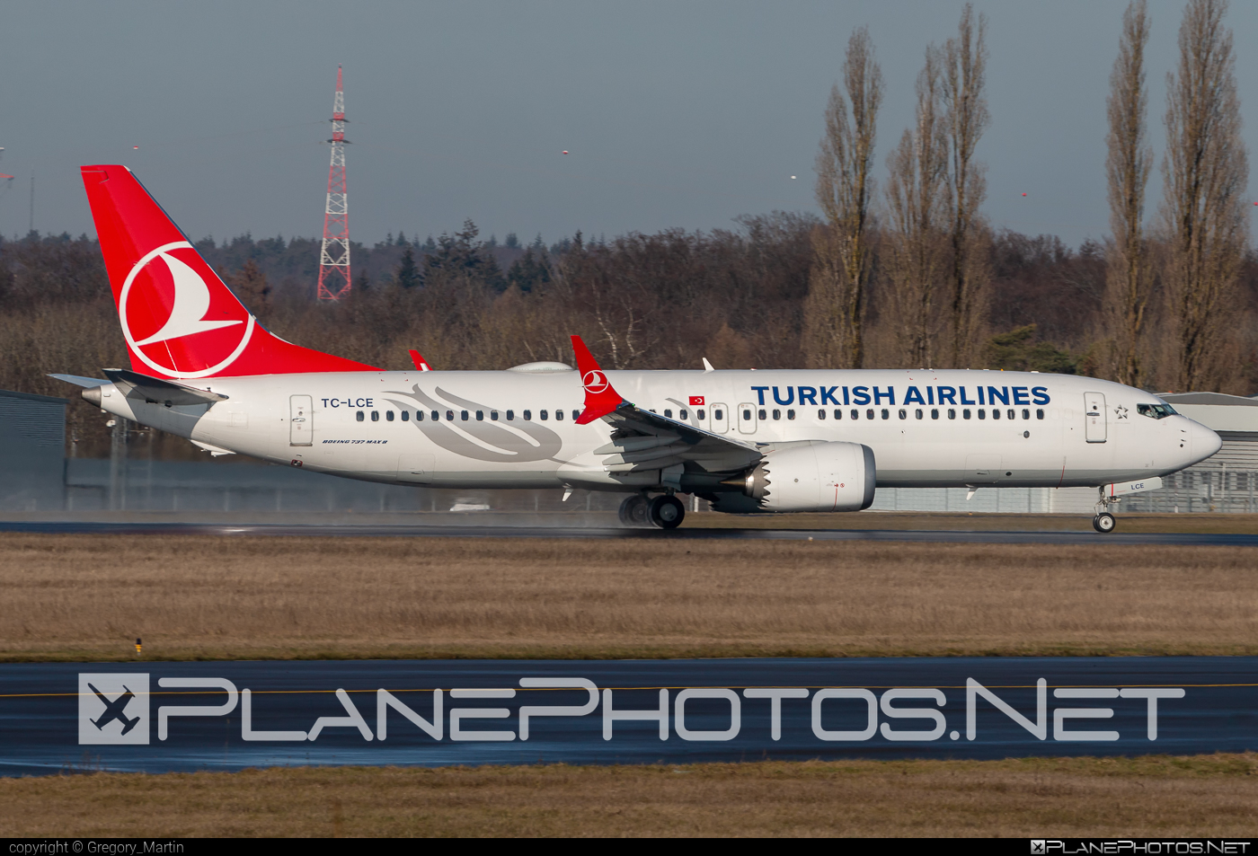 Boeing 737-8 MAX - TC-LCE operated by Turkish Airlines #b737 #b737max #boeing #boeing737 #turkishairlines