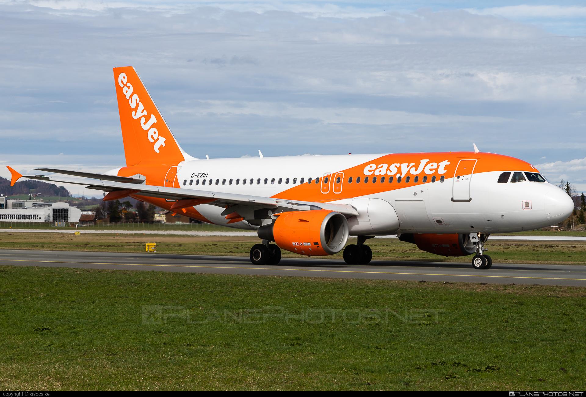 easyJet Airbus A319-111 - G-EZIH #a319 #a320family #airbus #airbus319 #easyjet