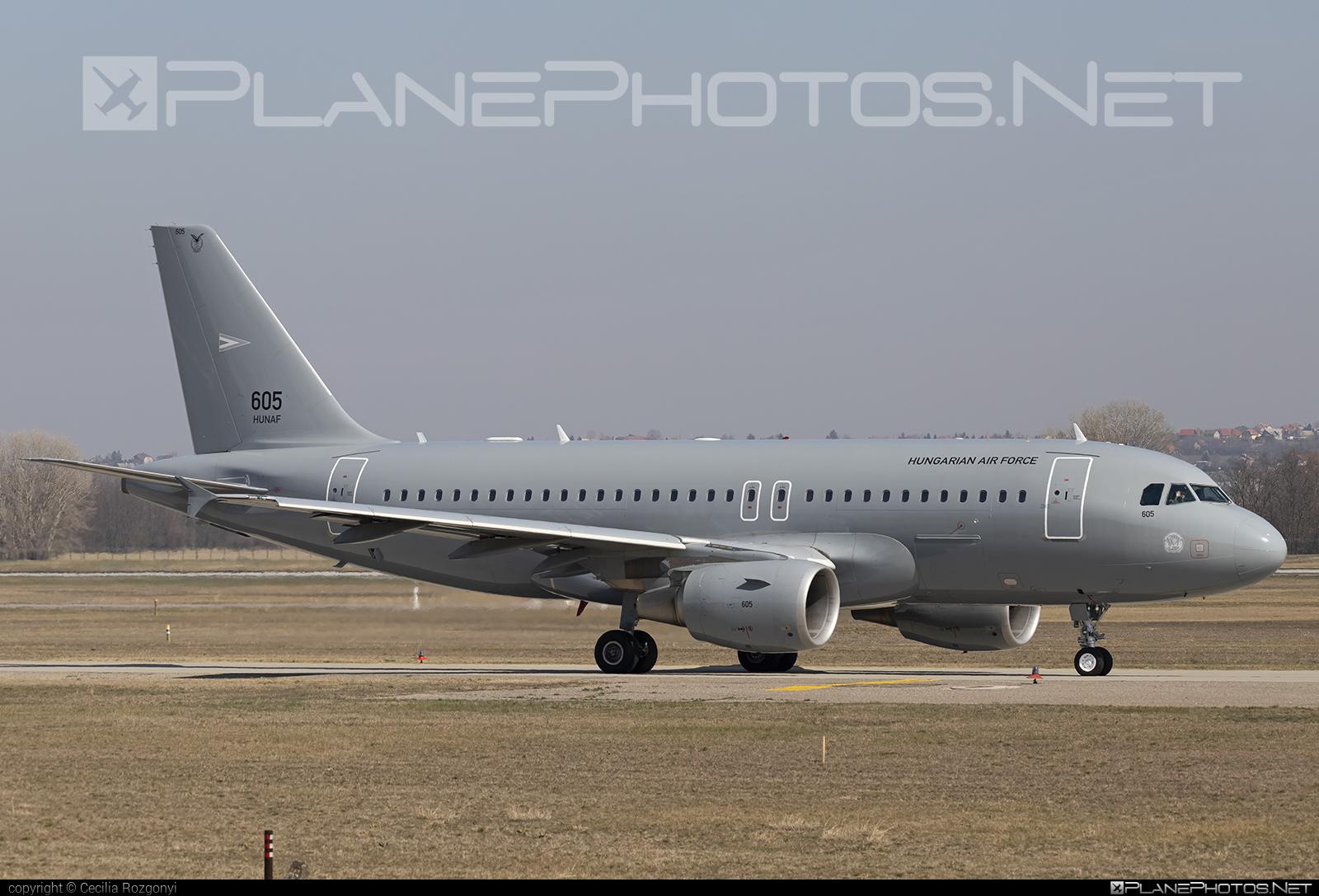Magyar Légierő (Hungarian Air Force) Airbus A319-112 - 605 #a319 #a320family #airbus #airbus319 #hungarianairforce #magyarlegiero