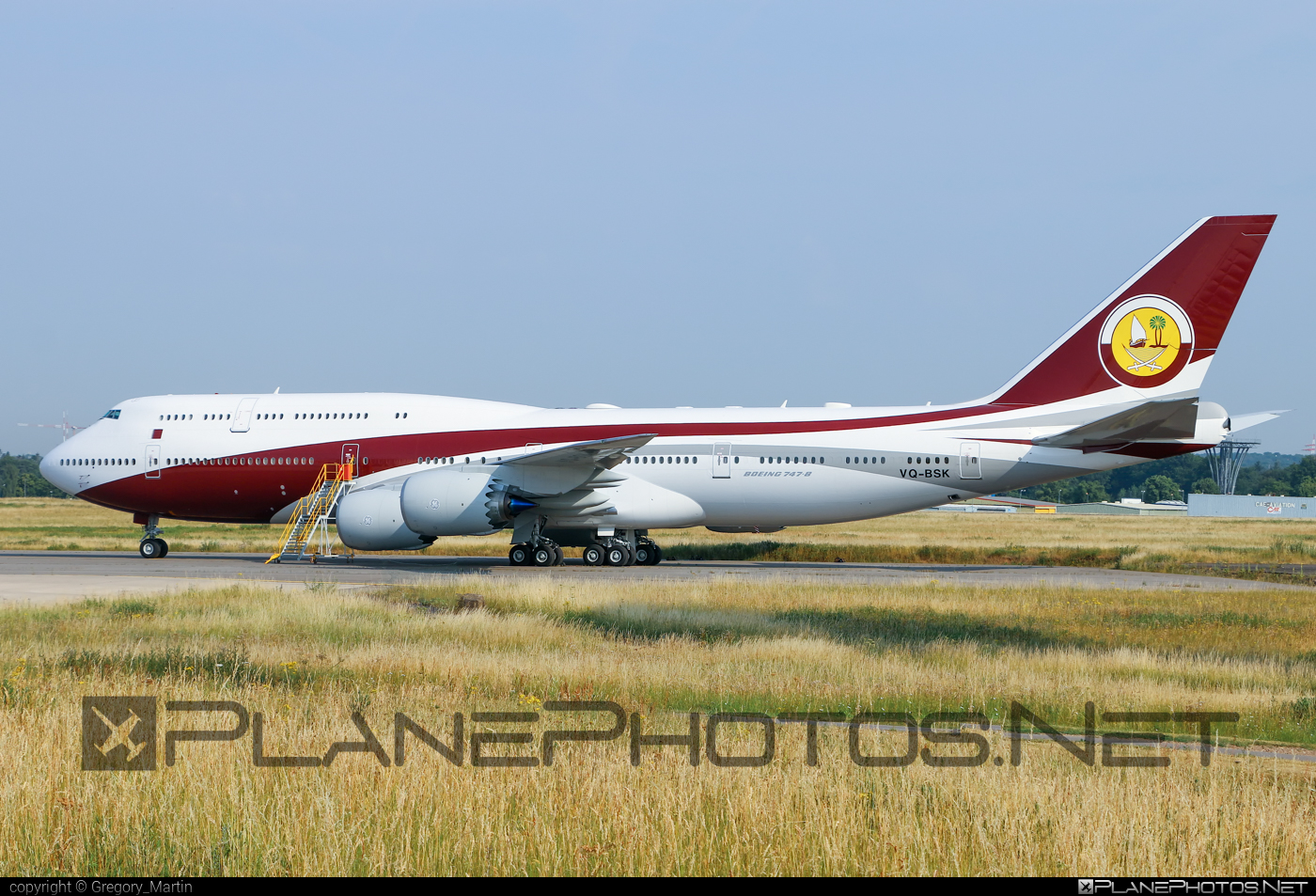 Boeing 747-8 - VQ-BSK operated by Qatar Amiri Flight #b747 #boeing #boeing747 #jumbo #qataramiriflight