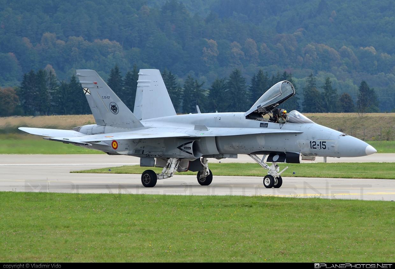 Ejército del Aire (Spanish Air Force) McDonnell Douglas EF-18A+ Hornet - C.15-57 #ef18a #ejercitodelaire #f18 #f18hornet #mcdonnelldouglas #spanishairforce