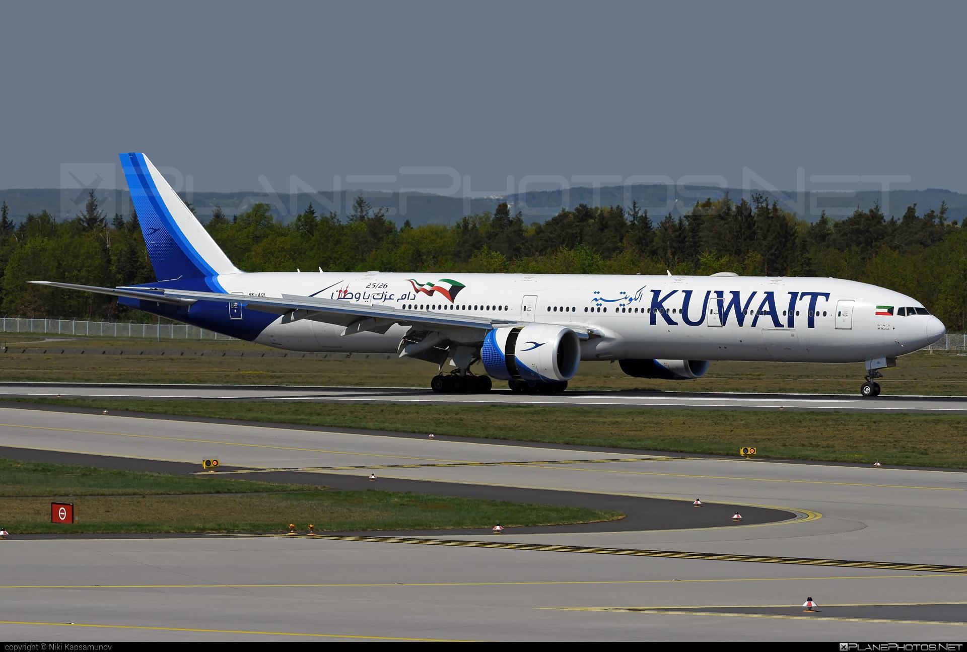 Kuwait Airways Boeing 777-300ER - 9K-AOL #b777 #b777er #boeing #boeing777 #tripleseven