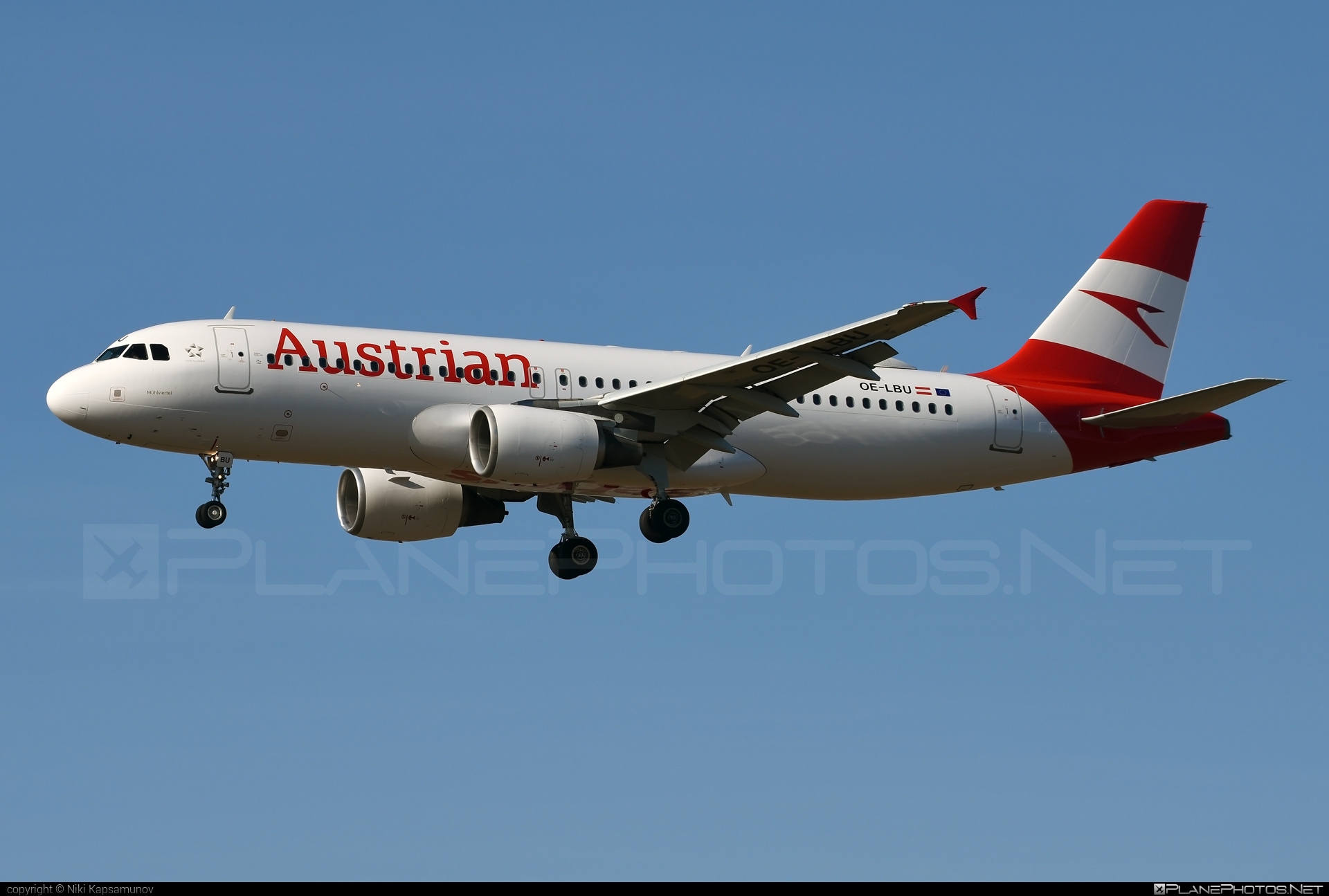 Airbus A320-214 - OE-LBU operated by Austrian Airlines #a320 #a320family #airbus #airbus320
