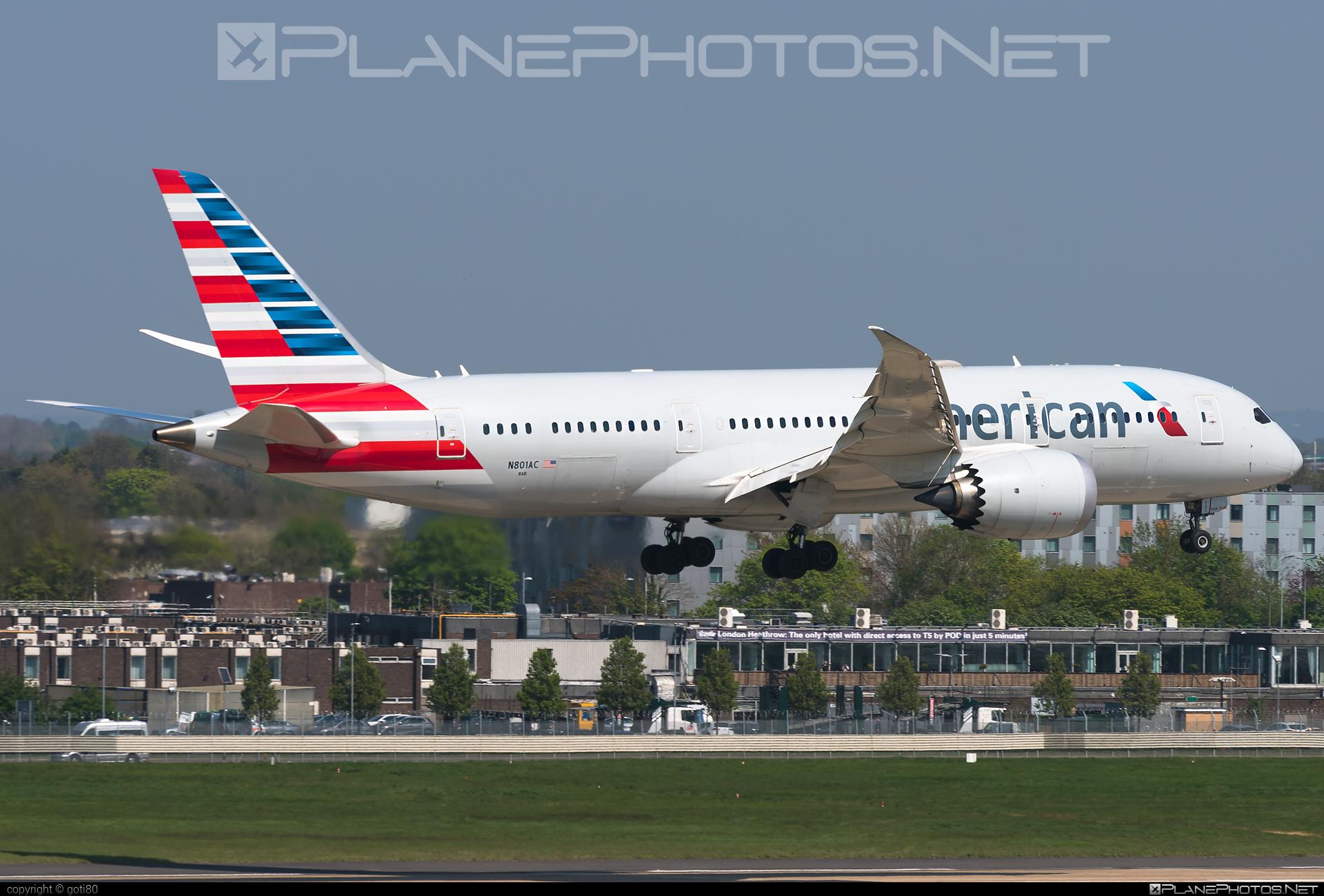 Boeing 787-8 Dreamliner - N801AC operated by American Airlines #americanairlines #b787 #boeing #boeing787 #dreamliner