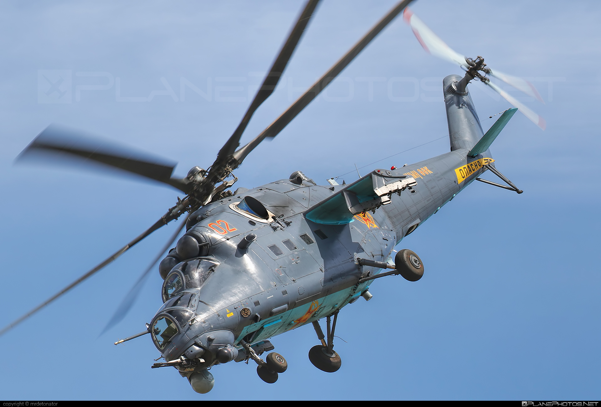 Mil Mi-35M - 02 operated by Kazakhstan Air Defence Force #mil #milhelicopters