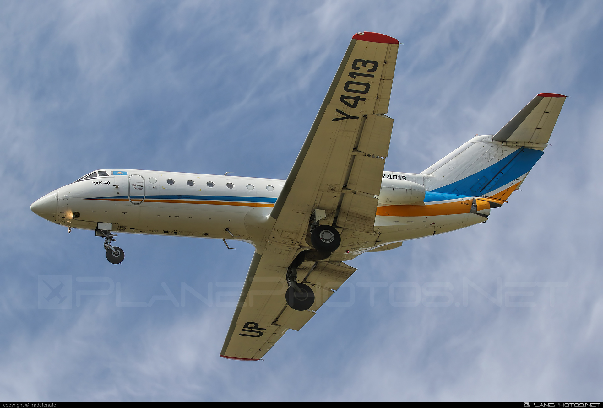 Yakovlev Yak-40 - UP-Y4013 operated by Kazakhstan - Government #yak #yak40 #yakovlev