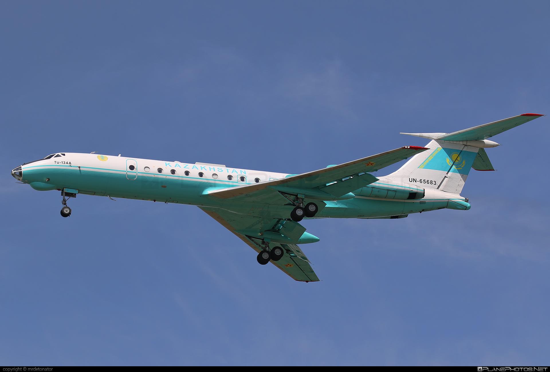 Tupolev Tu-134A - UN-65683 operated by Kazakhstan - Government #tu134 #tu134a #tupolev #tupolev134 #tupolevtu134 #tupolevtu134a