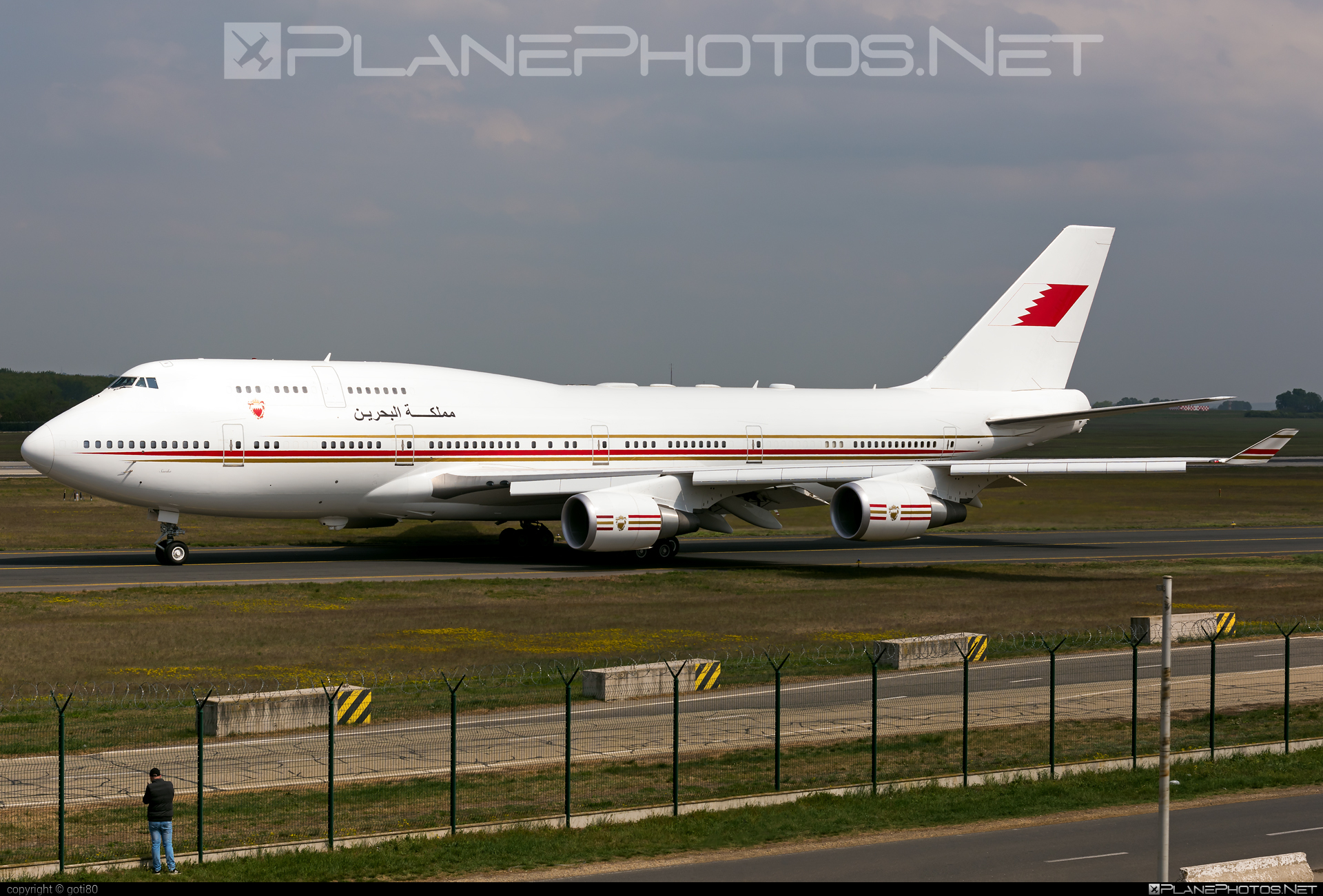 Boeing 747-400 - A9C-HMK operated by Bahrain - Royal Flight #b747 #boeing #boeing747 #jumbo