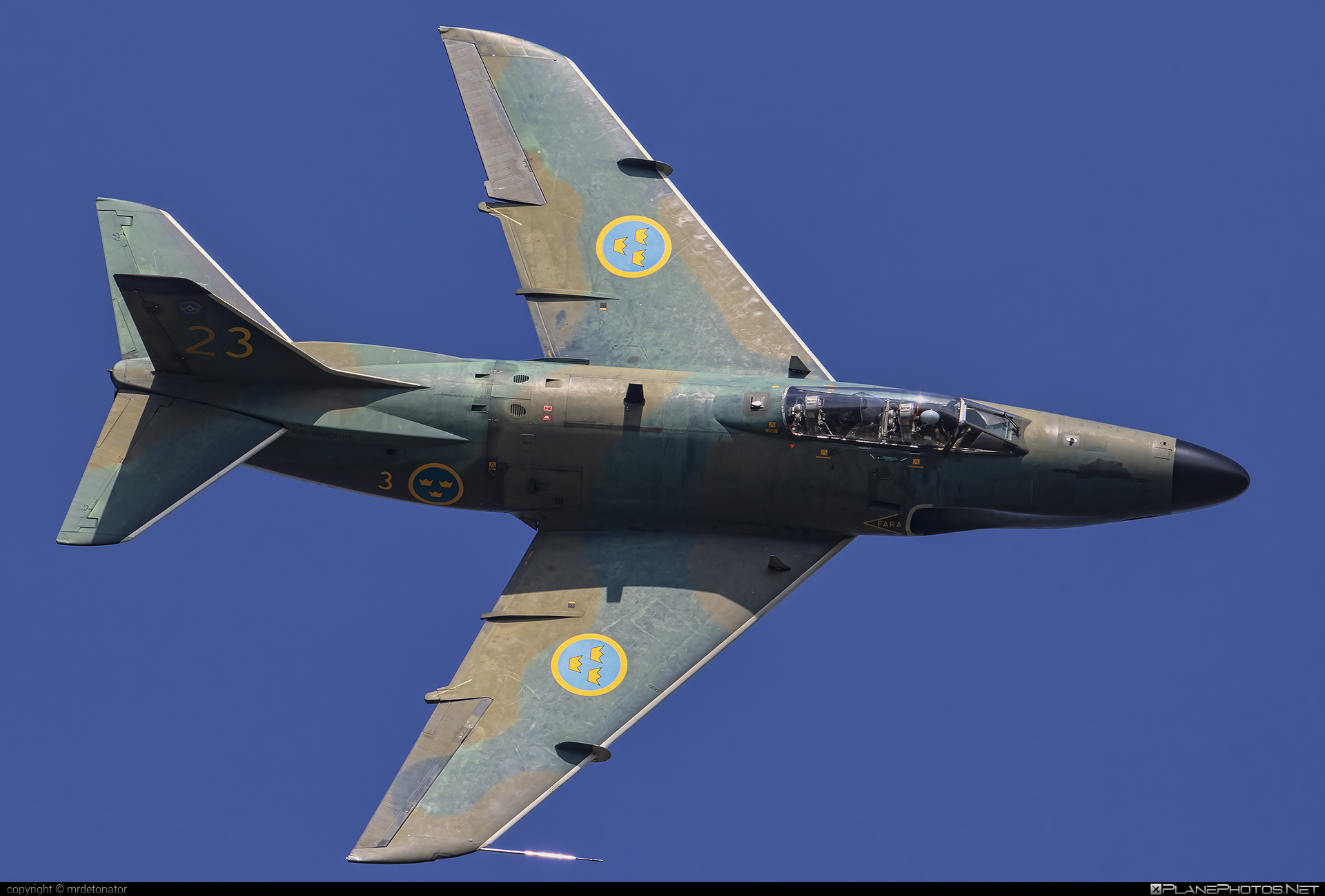 Saab J 32B Lansen - SE-RMD operated by Swedish Air Force Historic Flight #saab #saab32 #saab32lansen #saabj32 #saabj32b