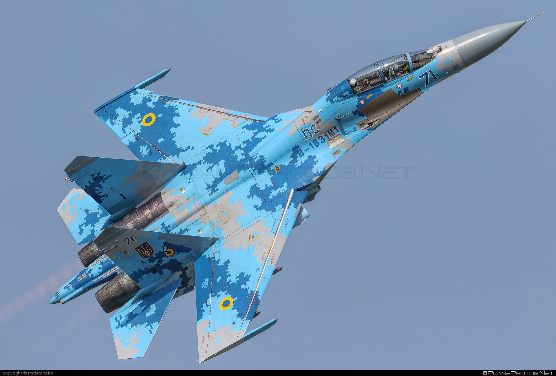 Sukhoi Su-27UB - 71 operated by Povitryani Syly Ukrayiny (Ukrainian Air Force) #povitryanisylyukrayiny #radomairshow #radomairshow2018 #su27 #su27ub #sukhoi #sukhoi27 #ukrainianairforce