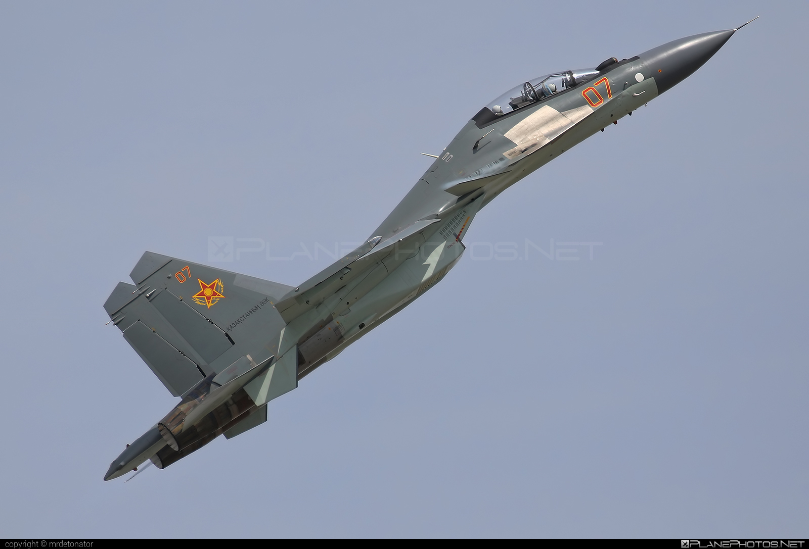 Sukhoi Su-30SM - 07 operated by Kazakhstan Air Defence Force #sukhoi