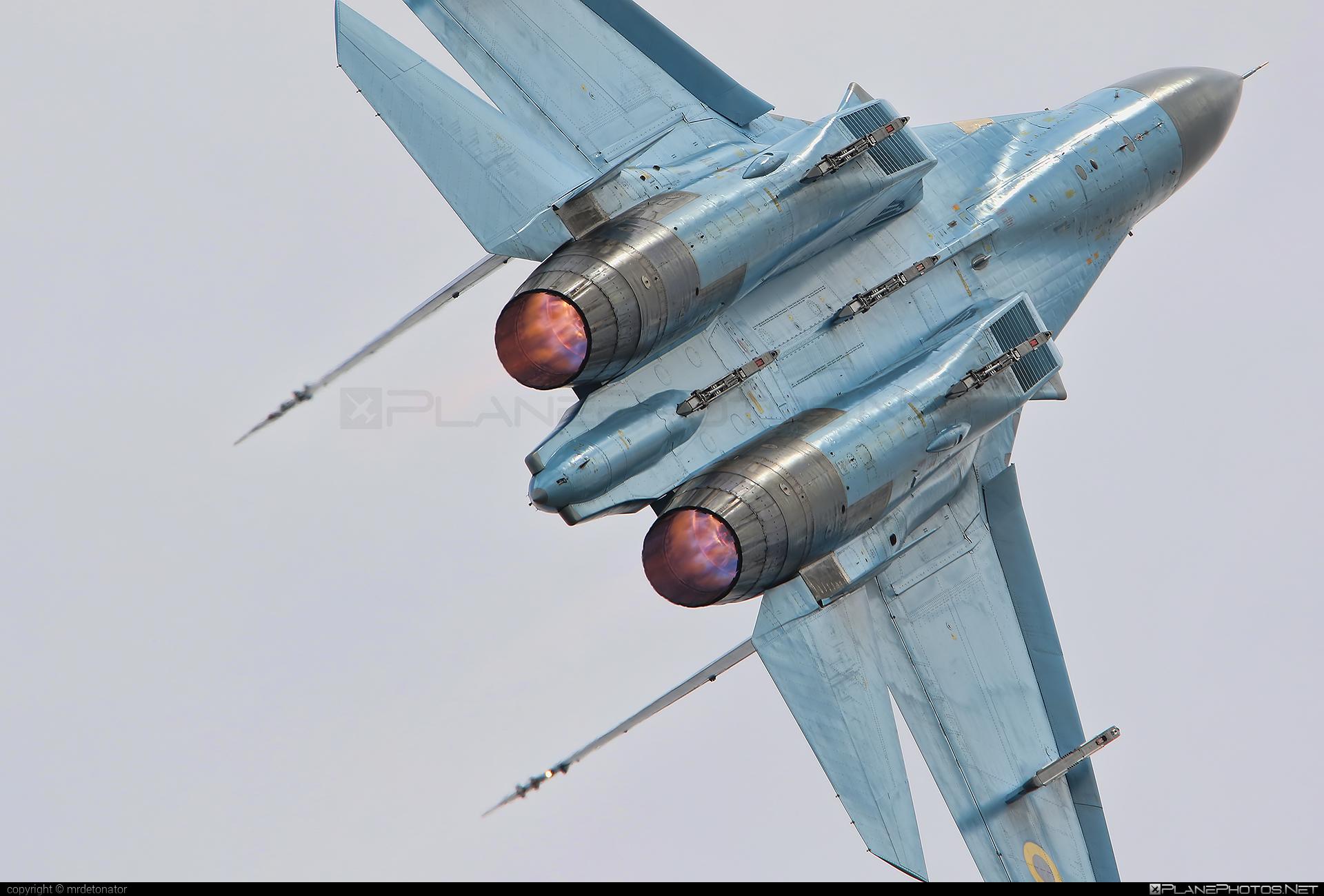 Sukhoi Su-27P - 58 operated by Povitryani Syly Ukrayiny (Ukrainian Air Force) #povitryanisylyukrayiny #su27 #su27p #sukhoi #sukhoi27 #ukrainianairforce