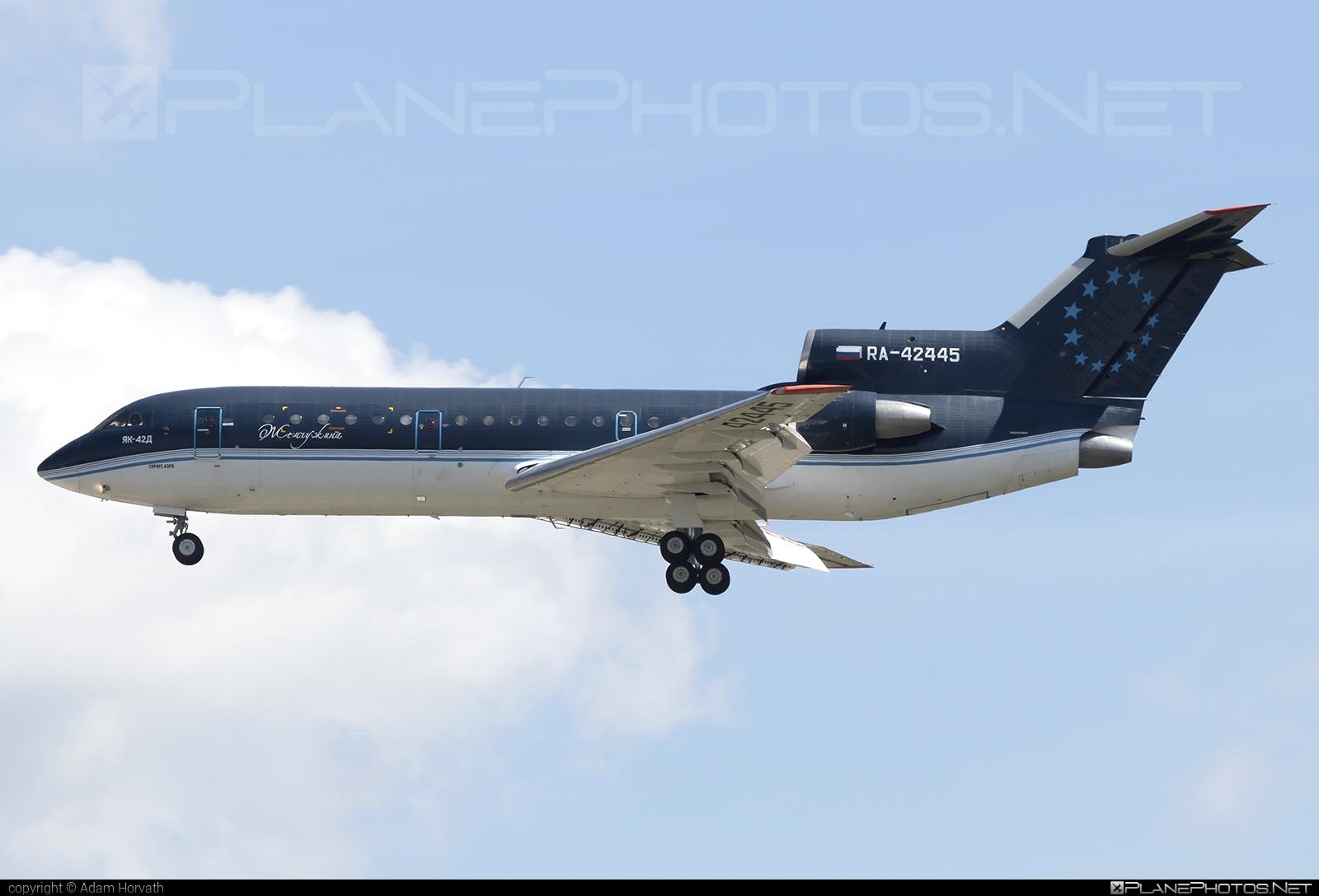 Yakovlev Yak-42D - RA-42445 operated by Sirius-Aero #yak #yak42 #yak42d #yakovlev