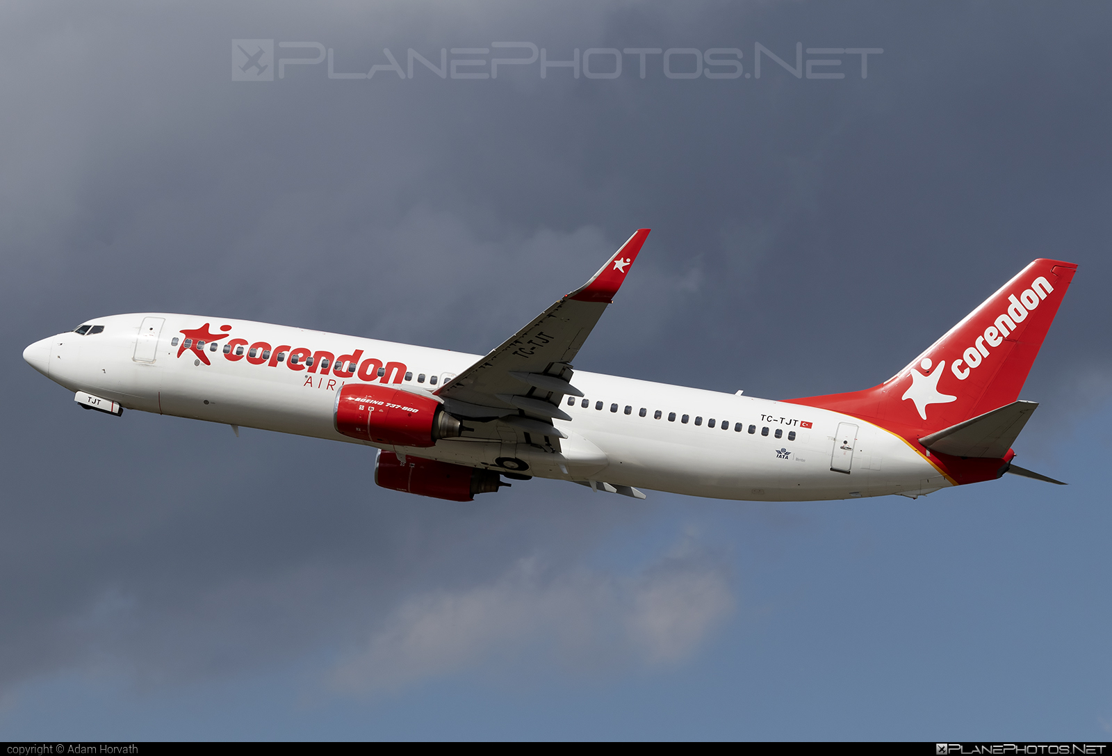 Boeing 737-800 - TC-TJT operated by Corendon Airlines #b737 #b737nextgen #b737ng #boeing #boeing737