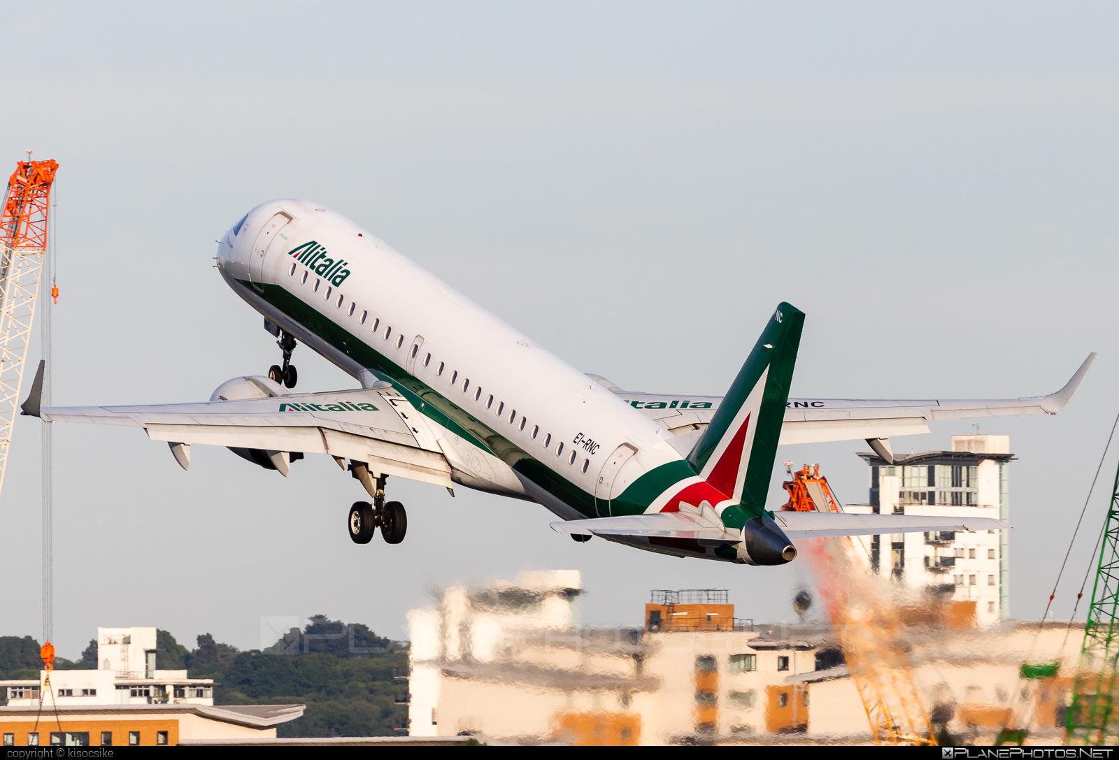 Embraer E190LR (ERJ-190-100LR) - EI-RNC operated by Alitalia CityLiner #e190 #e190100 #e190100lr #e190lr #embraer #embraer190 #embraer190100lr #embraer190lr