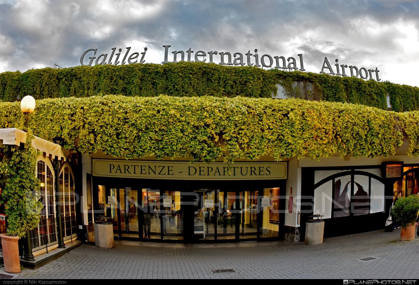 Pisa Galileo Galilei airport overview