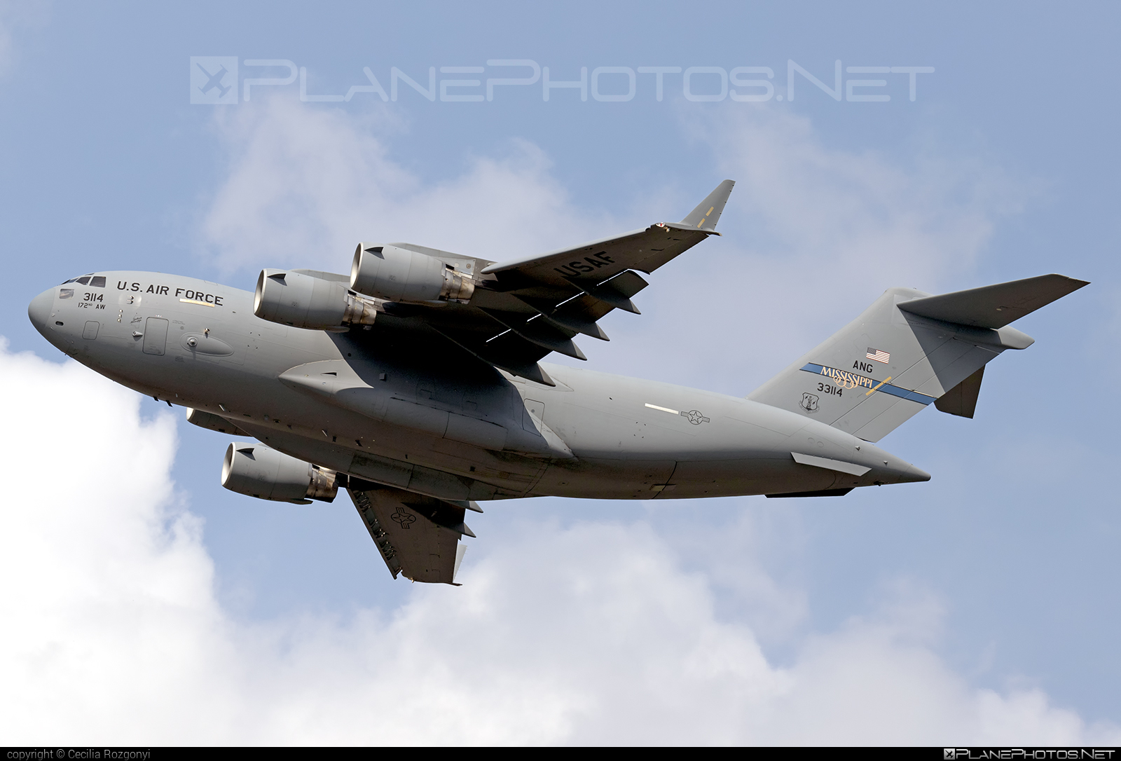 Boeing C-17A Globemaster III - 03-3114 operated by US Air Force (USAF) #boeing #c17 #c17globemaster #globemaster #globemasteriii #usaf #usairforce