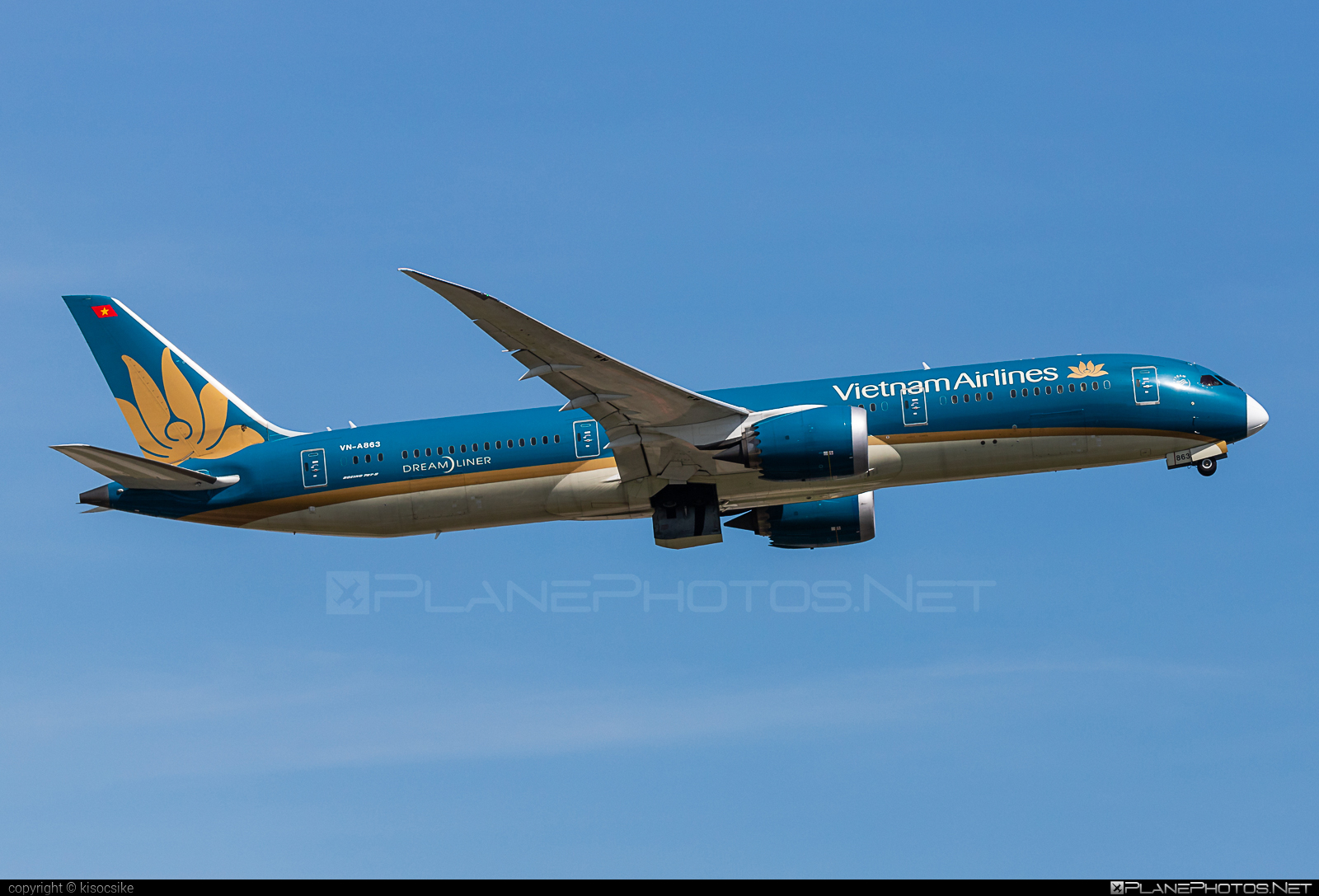 Boeing 787-9 Dreamliner - VN-A863 operated by Vietnam Airlines #b787 #boeing #boeing787 #dreamliner