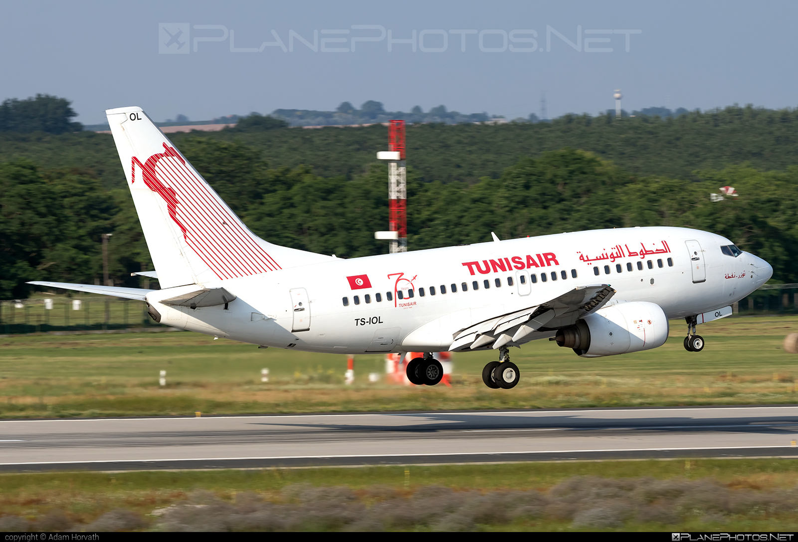 Boeing 737-600 - TS-IOL operated by Tunisair #b737 #b737nextgen #b737ng #boeing #boeing737 #tunisair