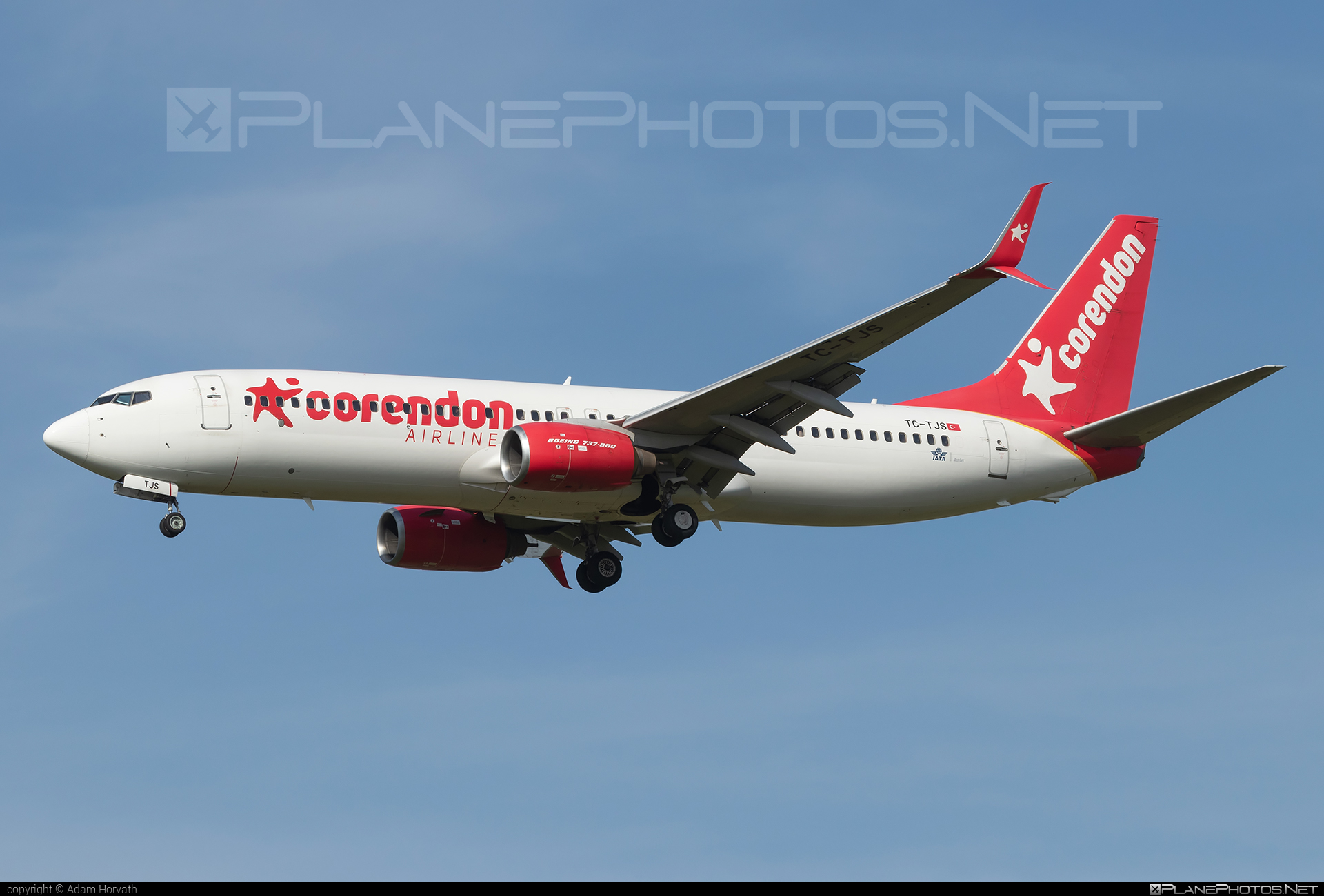 Boeing 737-800 - TC-TJS operated by Corendon Airlines #b737 #b737nextgen #b737ng #boeing #boeing737