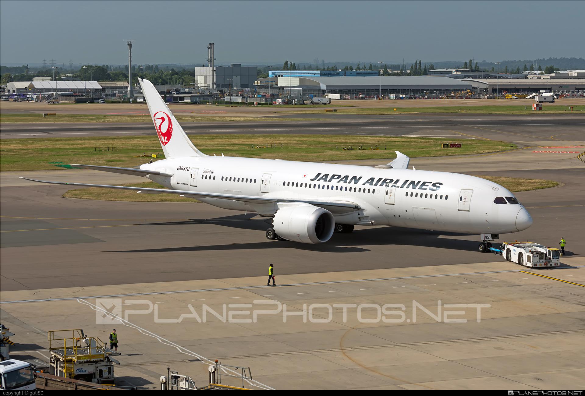 Boeing 787-8 Dreamliner - JA837J operated by Japan Airlines (JAL) #b787 #boeing #boeing787 #dreamliner