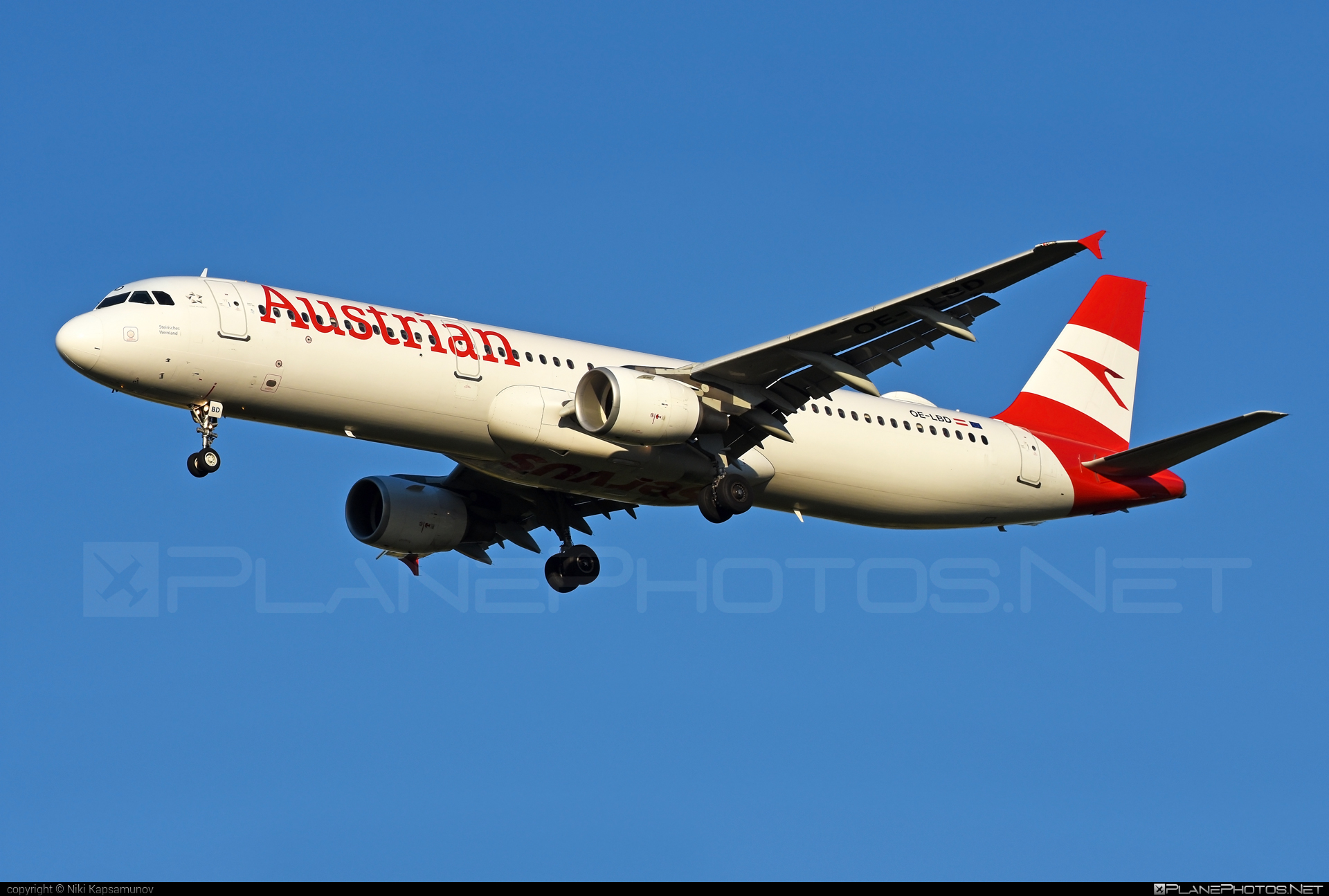 Airbus A321-211 - OE-LBD operated by Austrian Airlines #a320family #a321 #airbus #airbus321