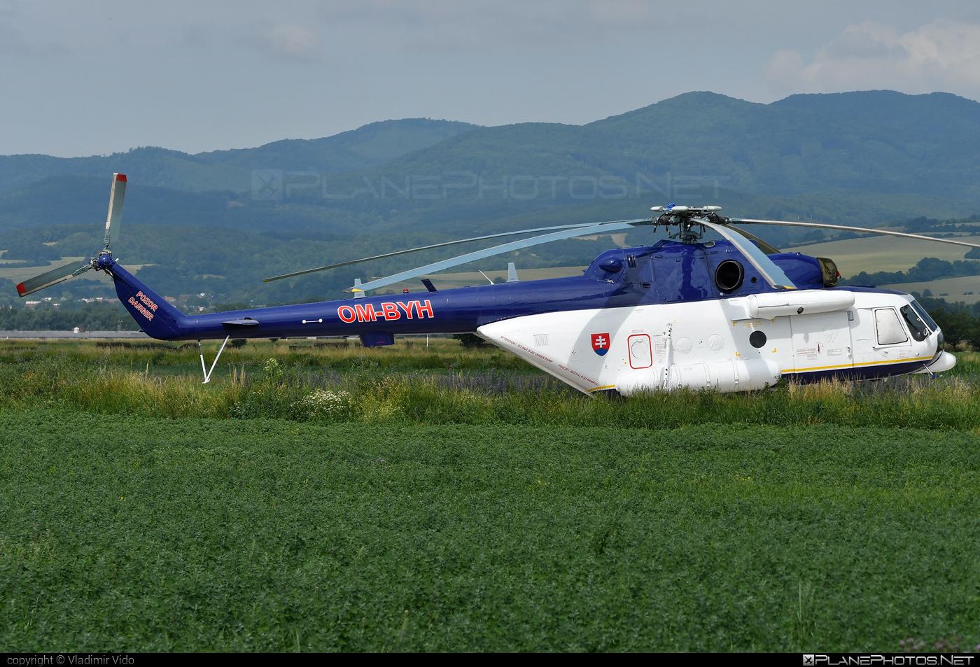 Mil Mi-171 - OM-BYH operated by Letecký útvar MV SR (Slovak Government Flying Service) #mi171 #mil #mil171 #milhelicopters