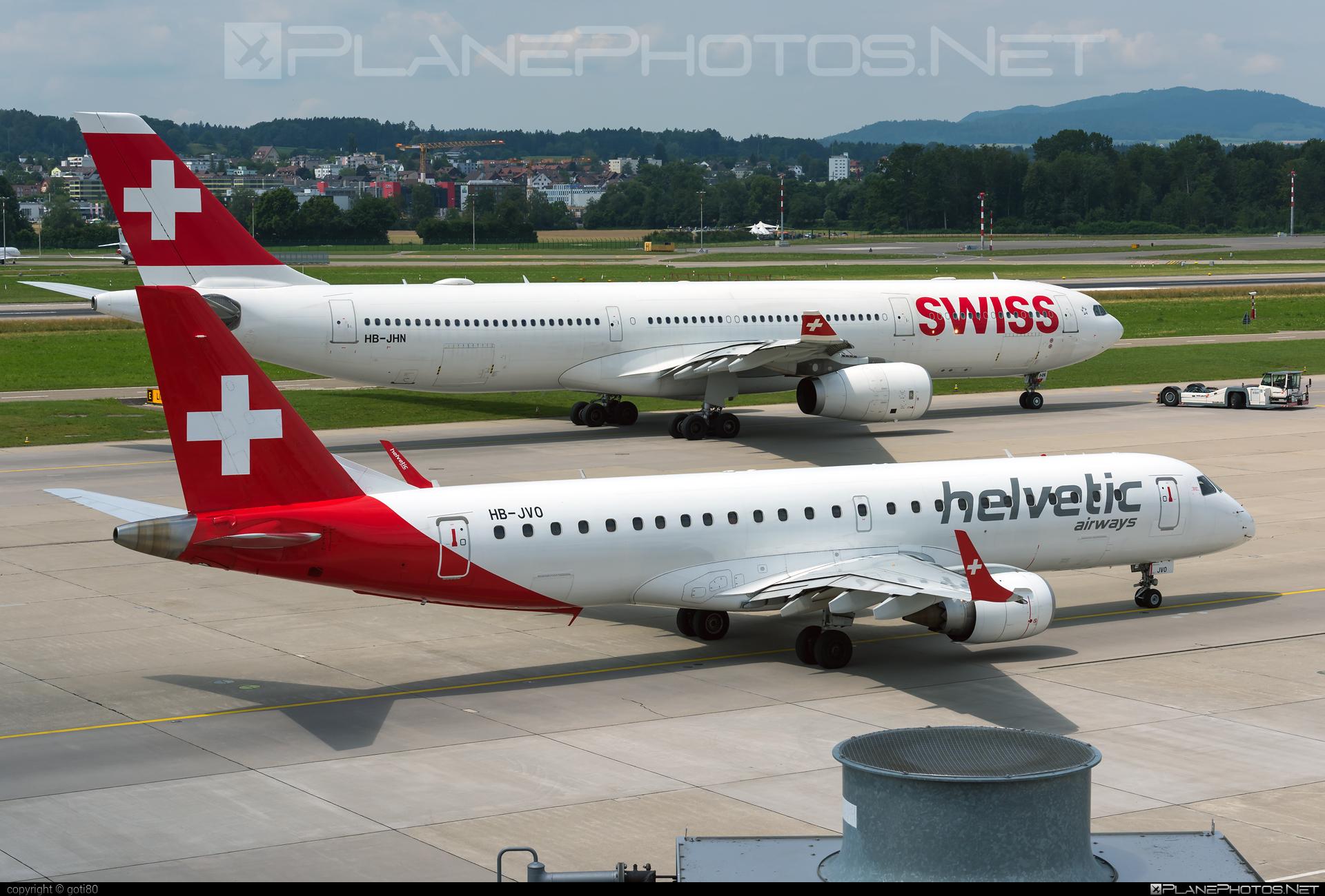 Embraer E190LR (ERJ-190-100LR) - HB-JVO operated by Helvetic Airways #e190 #e190100 #e190100lr #e190lr #embraer #embraer190 #embraer190100lr #embraer190lr