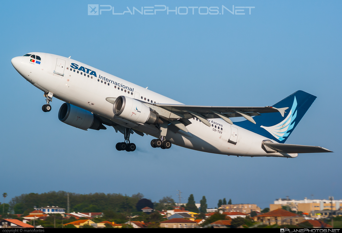 Airbus A310-304 - CS-TGV operated by SATA International #a310 #airbus