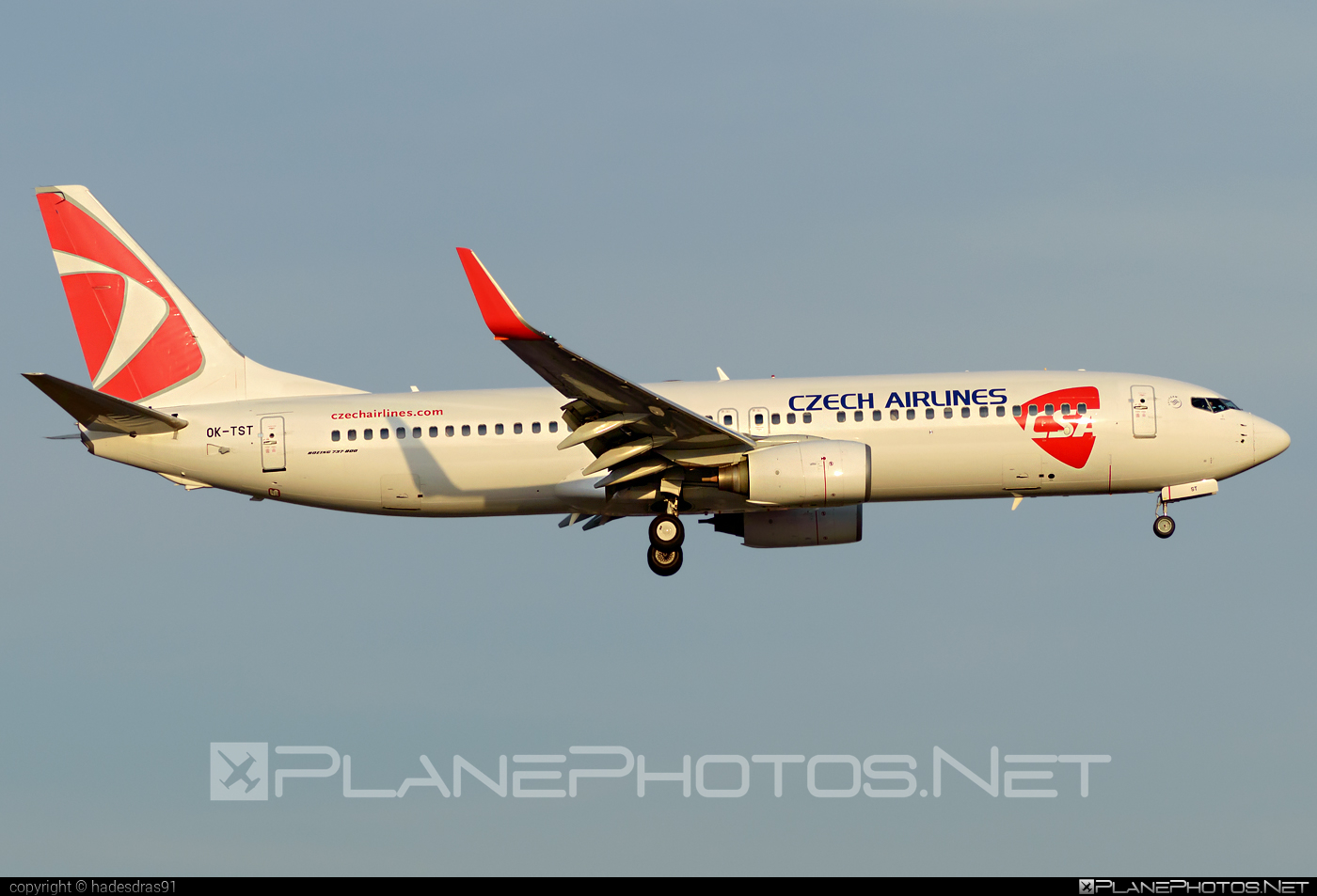 Boeing 737-800 - OK-TST operated by CSA Czech Airlines #b737 #b737nextgen #b737ng #boeing #boeing737 #csa #czechairlines