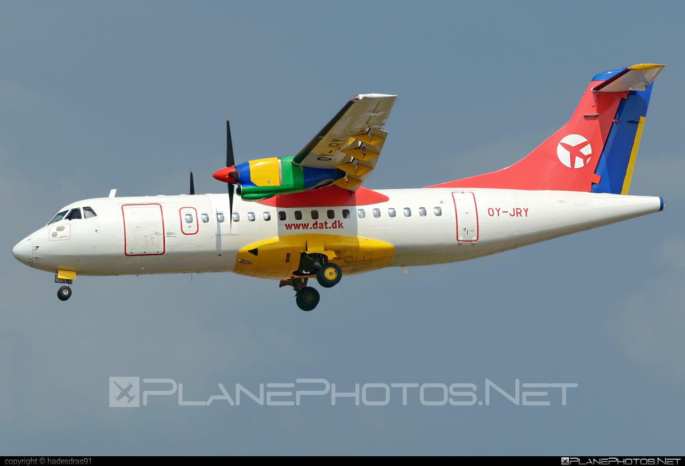 ATR 42-300 - OY-JRY operated by Danish Air Transport (DAT) #atr #atr42 #atr42300