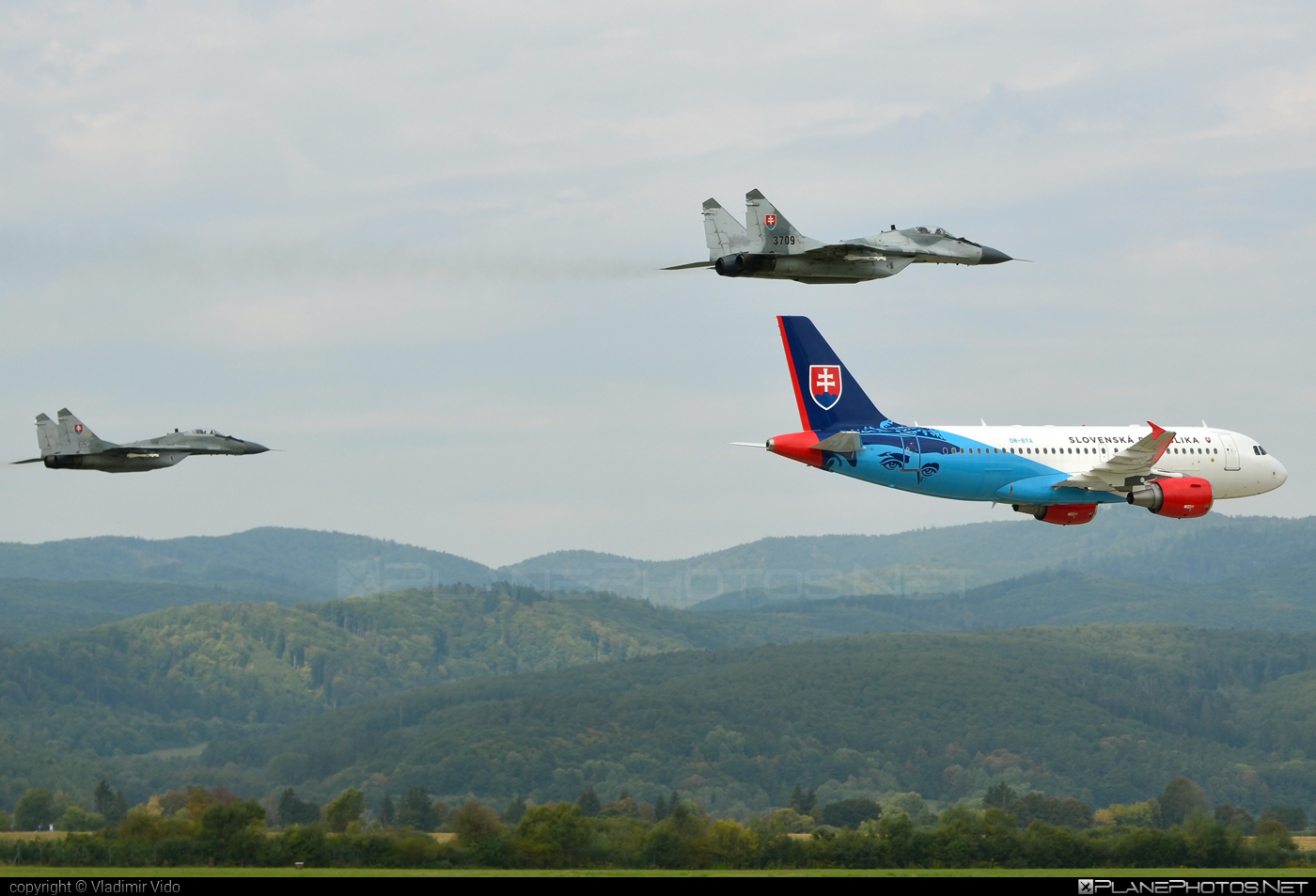 Mikoyan-Gurevich MiG-29AS - 3709 operated by Vzdušné sily OS SR (Slovak Air Force) #mig #mig29 #mig29as #mikoyangurevich #siaf2018 #slovakairforce #vzdusnesilyossr
