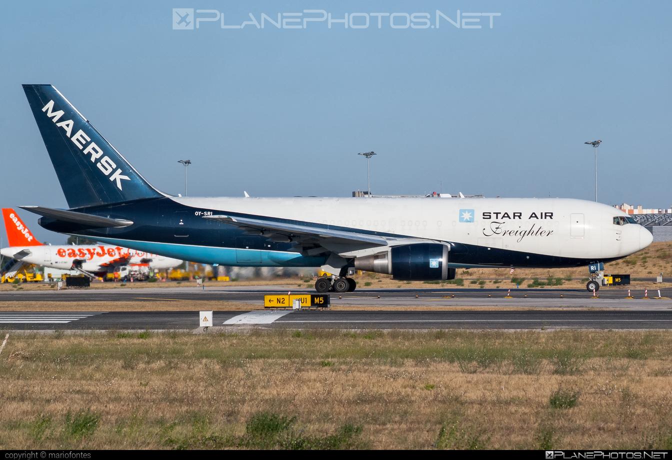 Boeing 767-200BDSF - OY-SRI operated by Star Air #b767 #b767200bdsf #b767bdsf #bedekspecialfreighter #boeing #boeing767