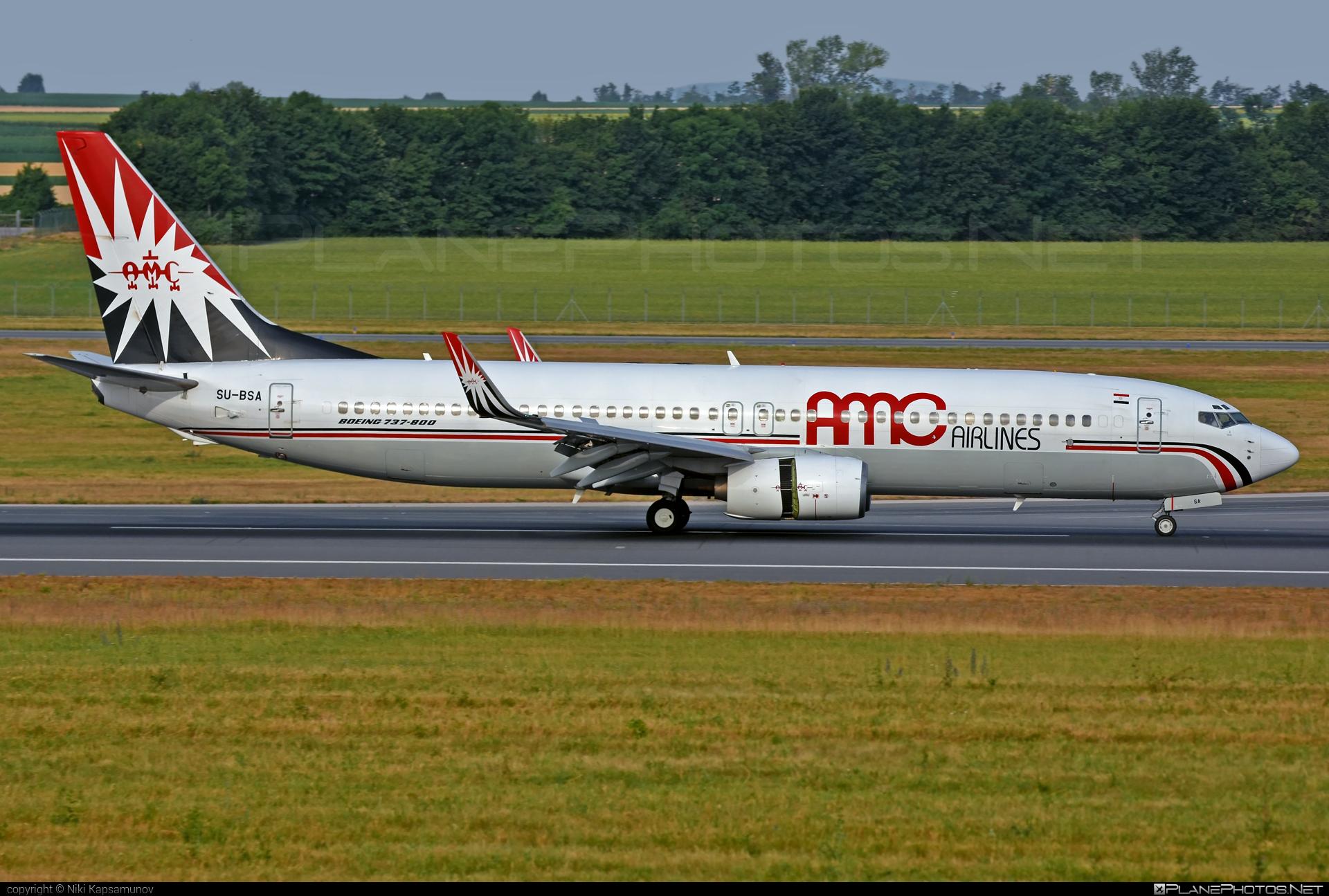 Boeing 737-800 - SU-BSA operated by AMC Airlines #amcairlines #b737 #b737nextgen #b737ng #boeing #boeing737