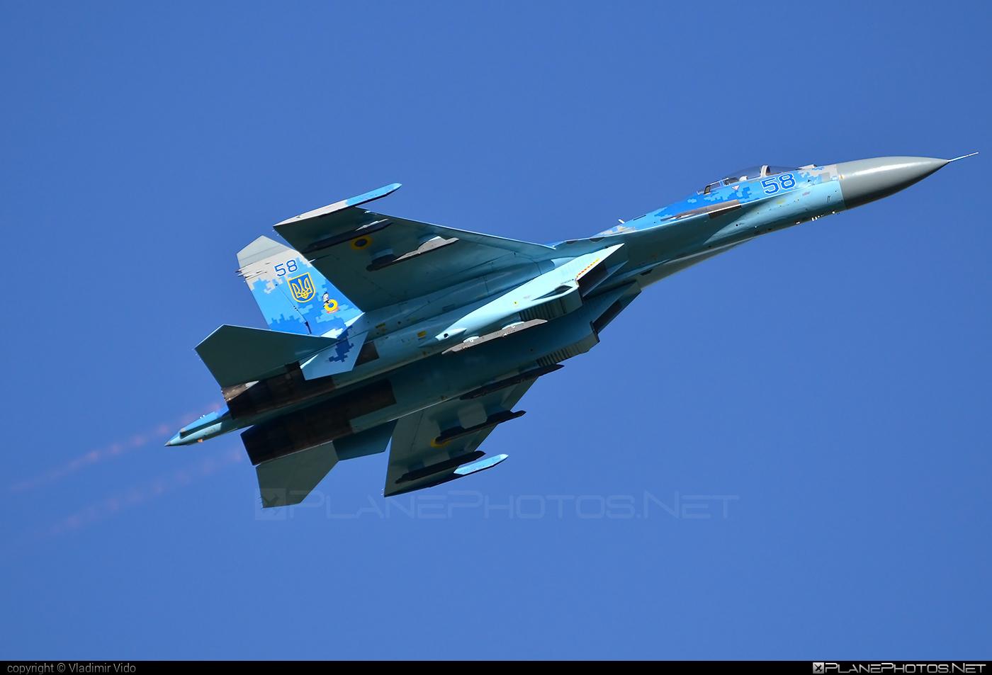 Sukhoi Su-27P - 58 operated by Povitryani Syly Ukrayiny (Ukrainian Air Force) #povitryanisylyukrayiny #siaf2016 #su27 #su27p #sukhoi #sukhoi27 #ukrainianairforce